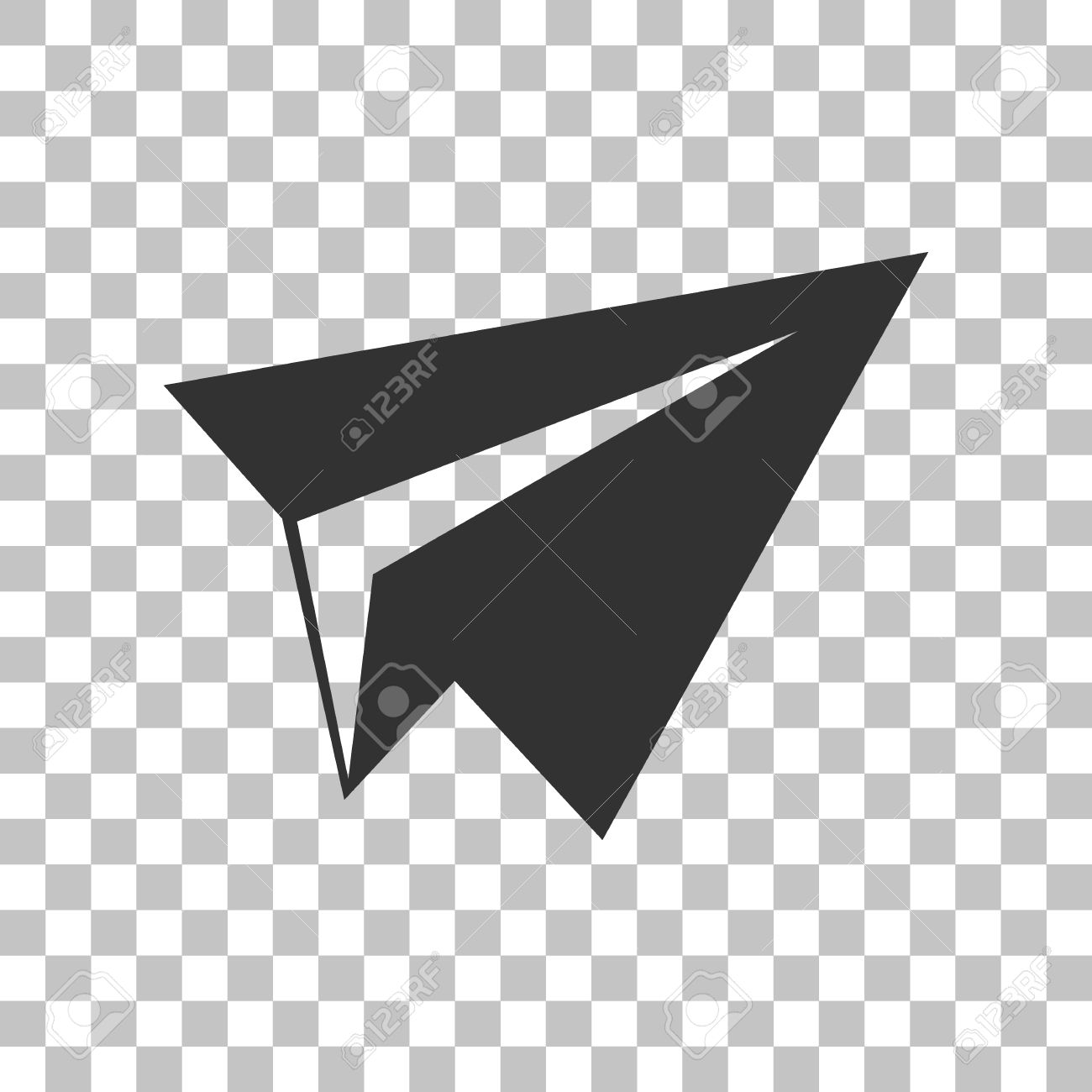 Paper airplane sign dark gray icon on transparent background paper airplane sign dark gray icon on transparent background stock vector 59147802 malvernweather Gallery