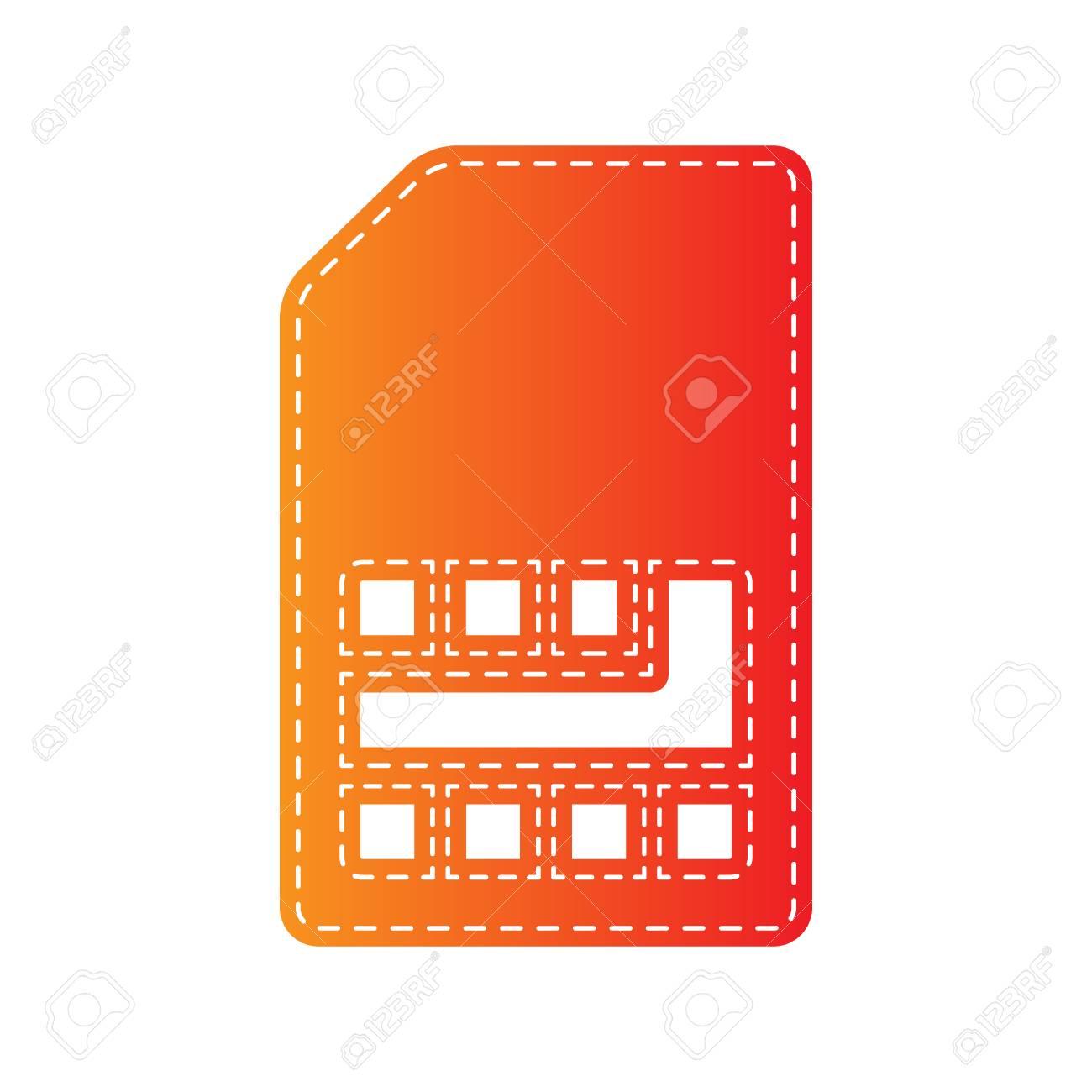 Signe De Carte Sim Orange Applique Isole Clip Art Libres De Droits Vecteurs Et Illustration Image 59304573