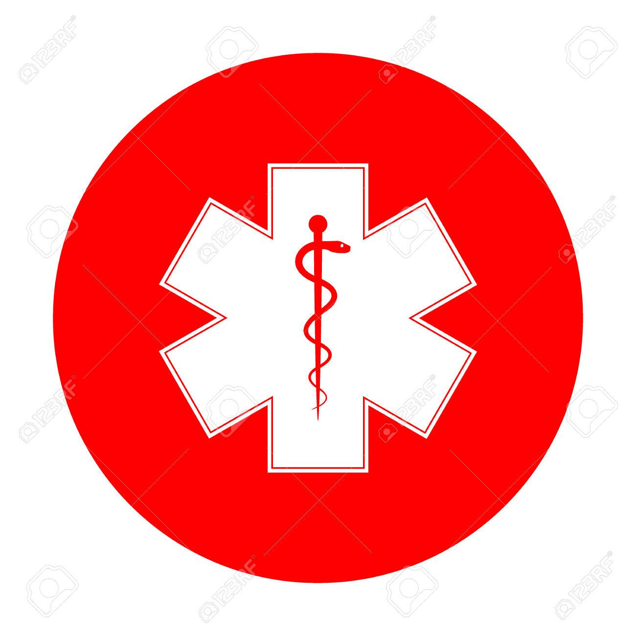 Medical Symbol Of The Emergency Or Star Of Life White Icon On