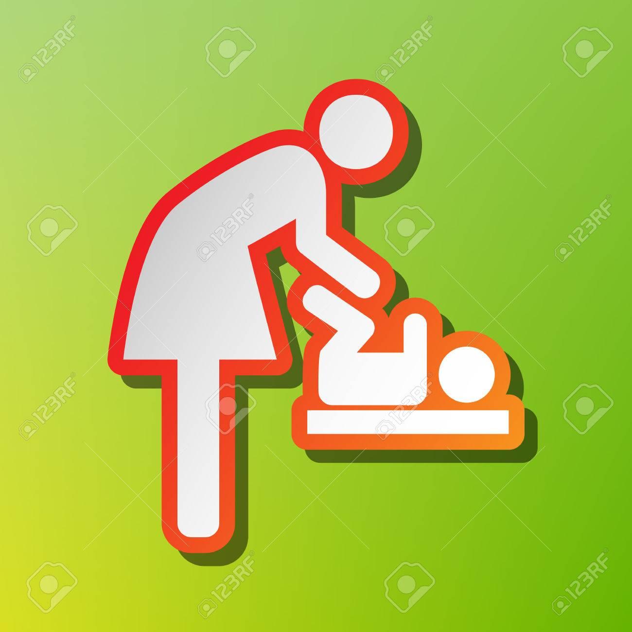 Symbol for women and baby baby changing contrast icon with symbol for women and baby baby changing contrast icon with reddish stroke on green biocorpaavc Gallery