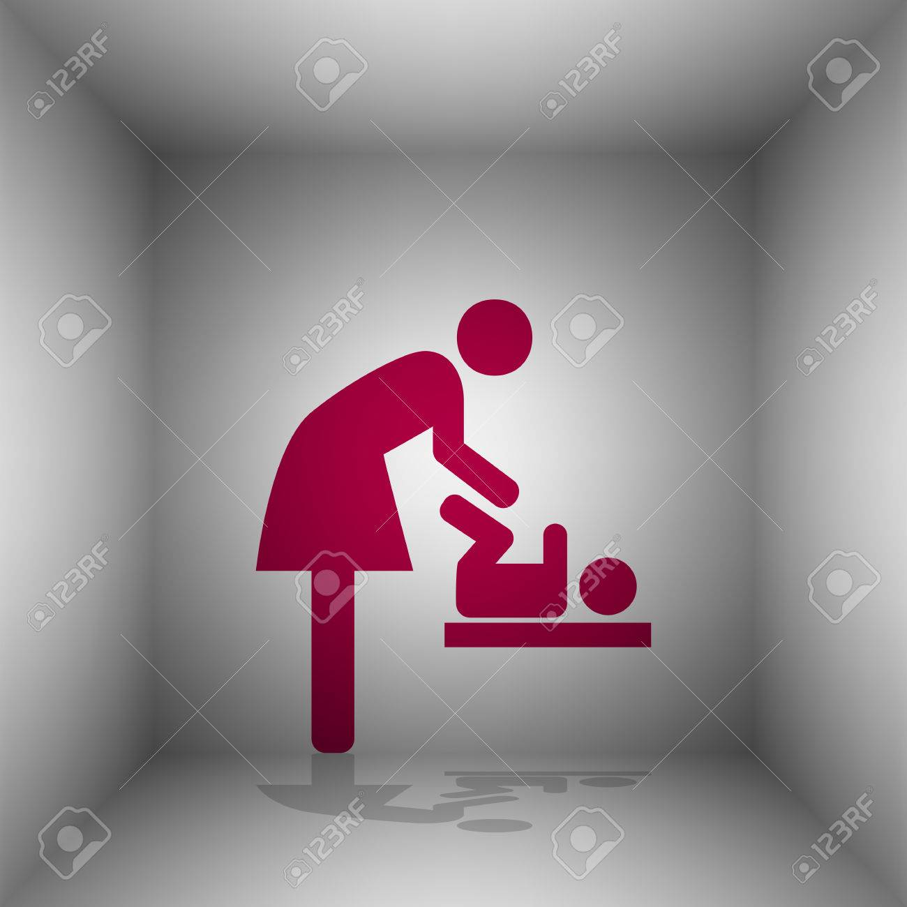 Symbol for women and baby baby changing bordo icon with shadow symbol for women and baby baby changing bordo icon with shadow in the room biocorpaavc Gallery