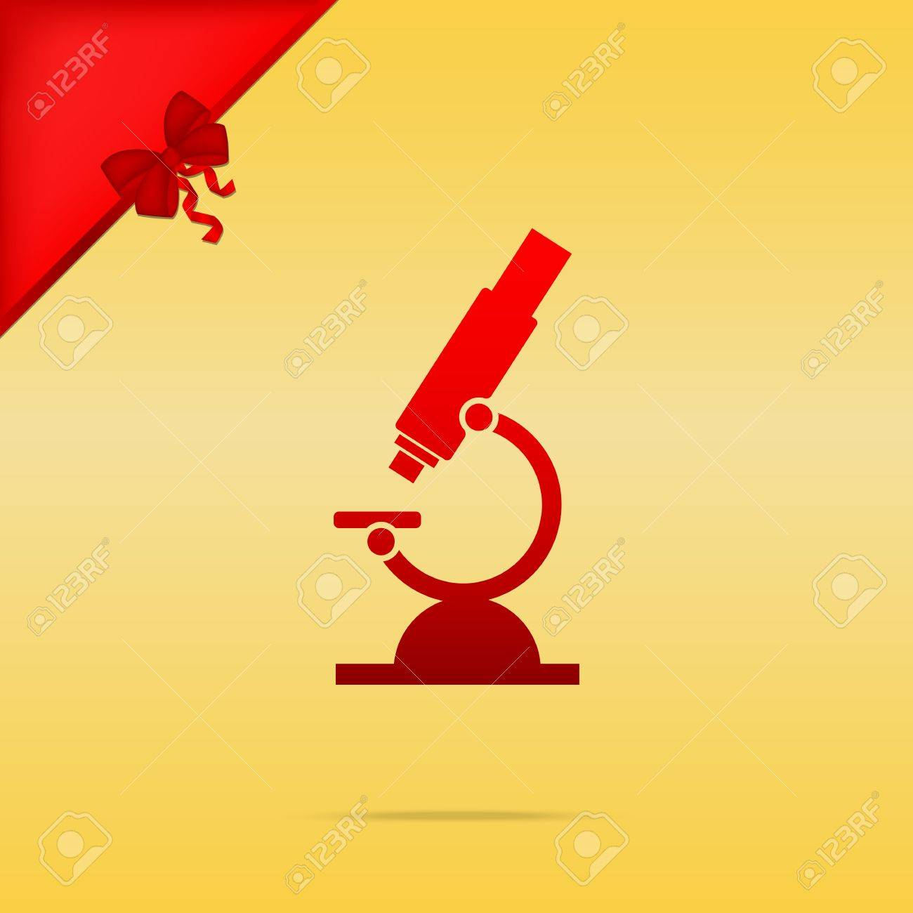 Chemistry microscope sign for laboratory cristmas design red chemistry microscope sign for laboratory cristmas design red icon on gold background stock vector biocorpaavc Gallery