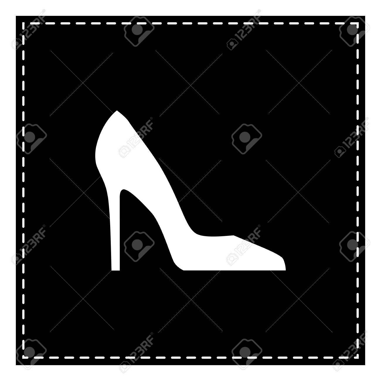 Femme De Fond Signe BlancIsolé ChaussureTache Noire La Sur edxQCoBWr