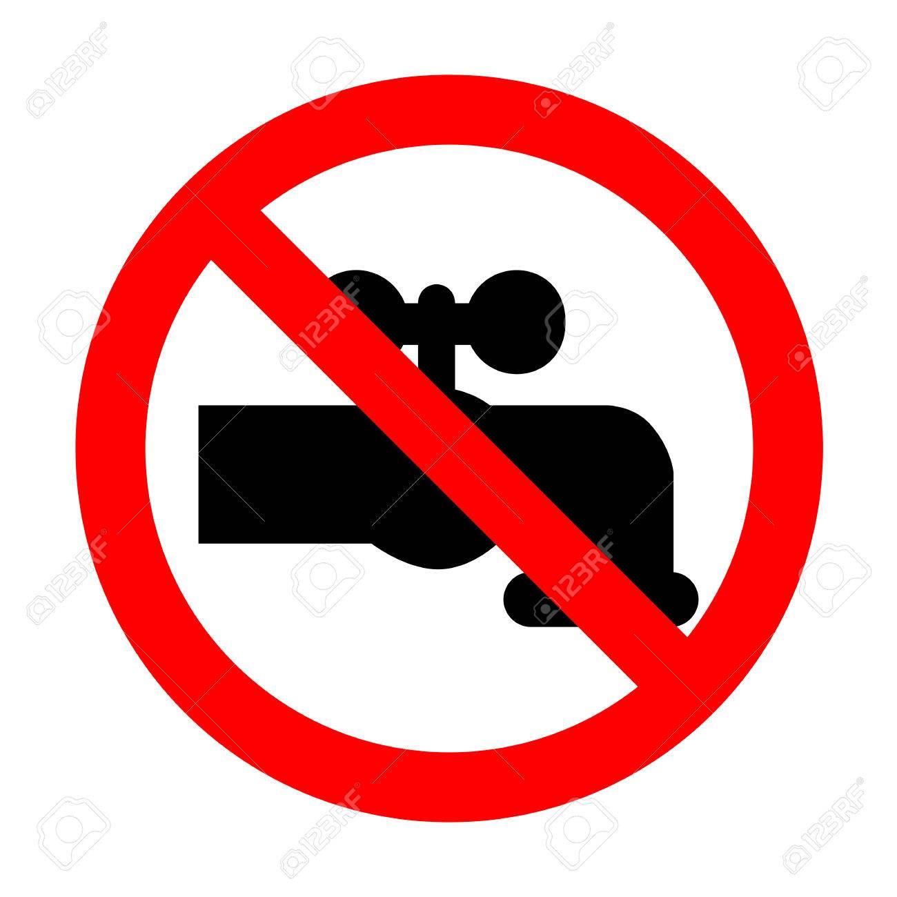 No Water Faucet Sign Illustration. Royalty Free Cliparts, Vectors ...