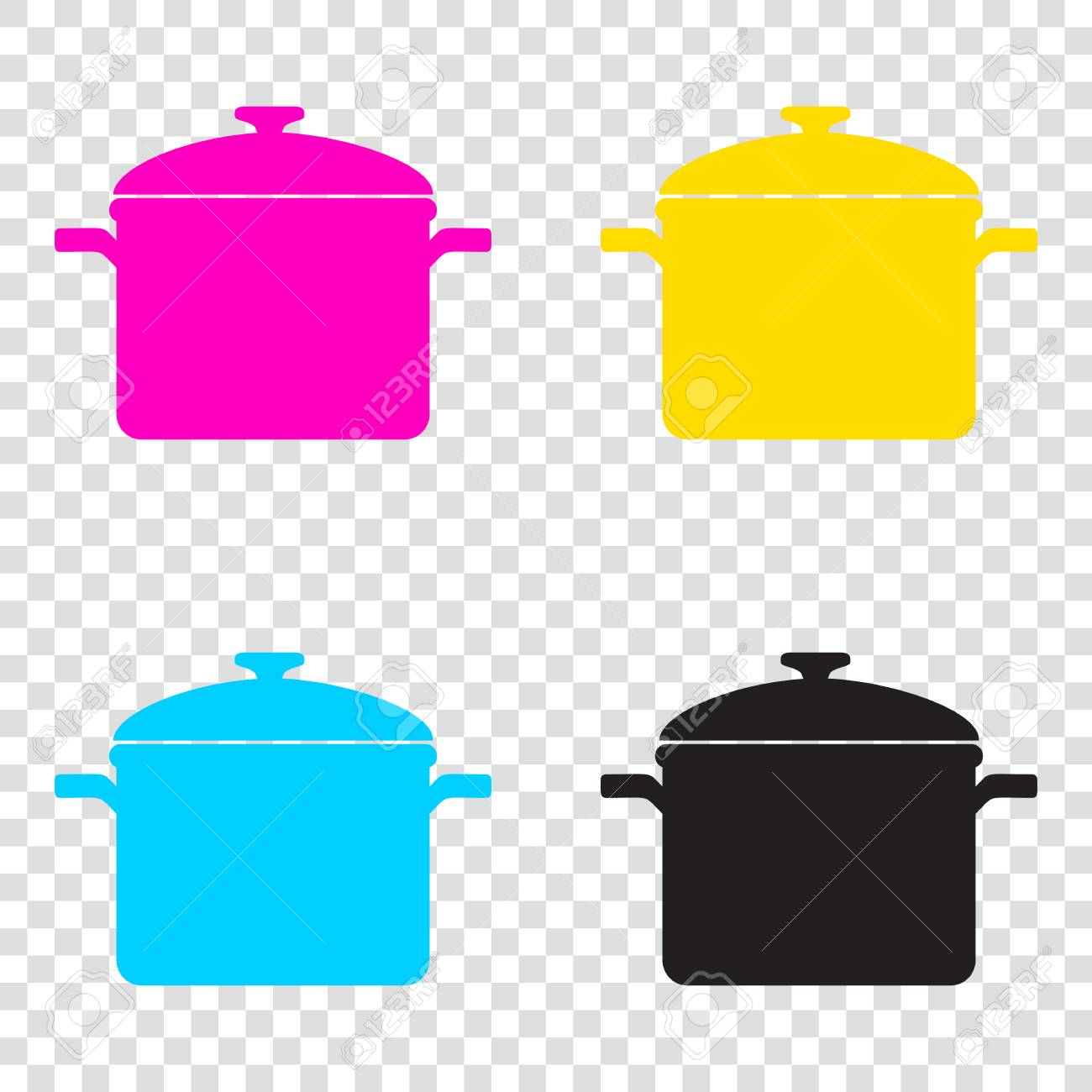 Simple, Black Cooking Pan Silhouette. Hot Saucepan Silhouette Stock Vector  - Illustration of equipment, isolated: 113583906