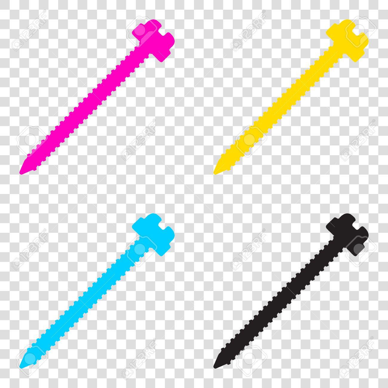 Ilustracin de la muestra del tornillo iconos de cmyk en fondo ilustracin de la muestra del tornillo iconos de cmyk en fondo transparente cian malvernweather Image collections