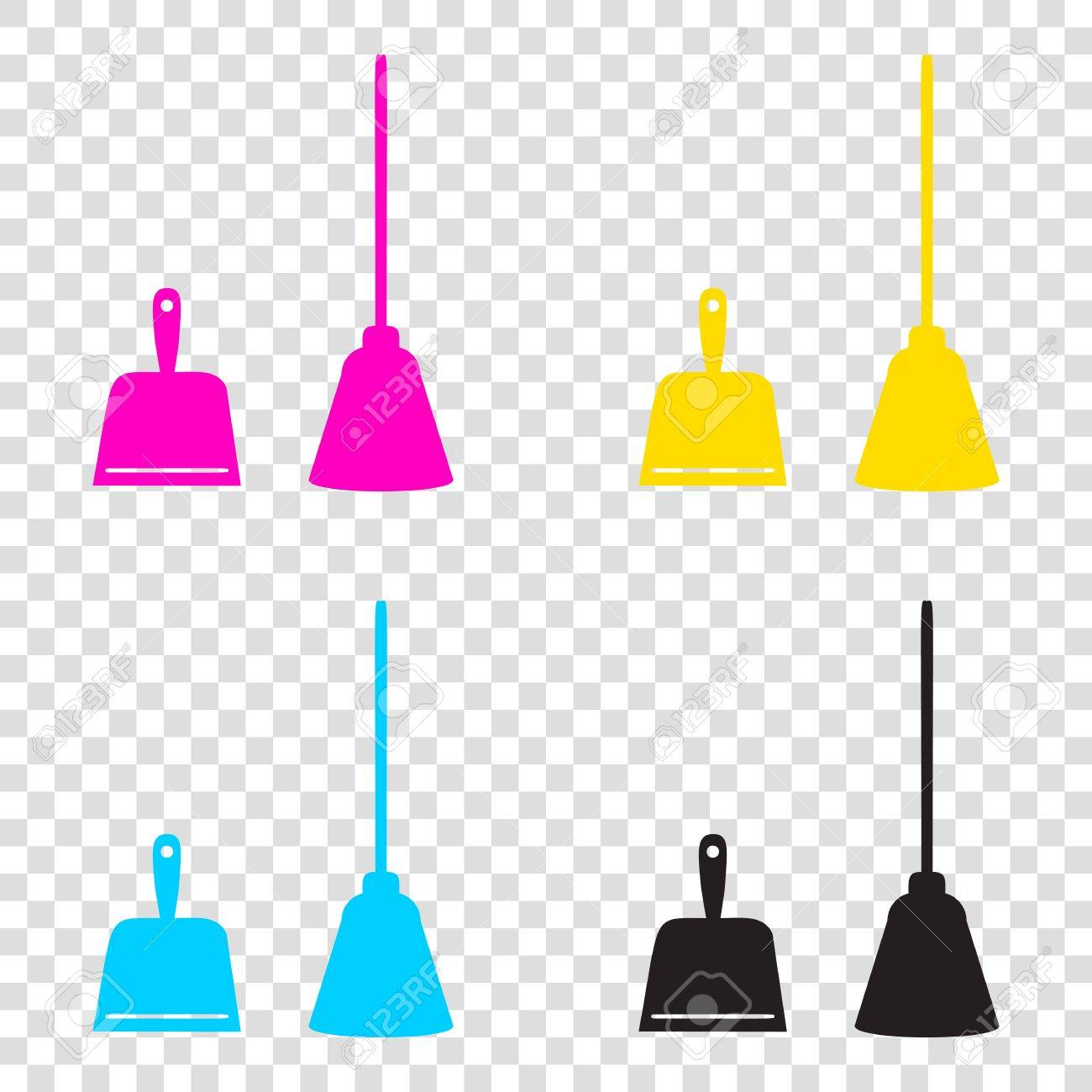 Dustpan vector sign  Scoop for cleaning garbage housework dustpan