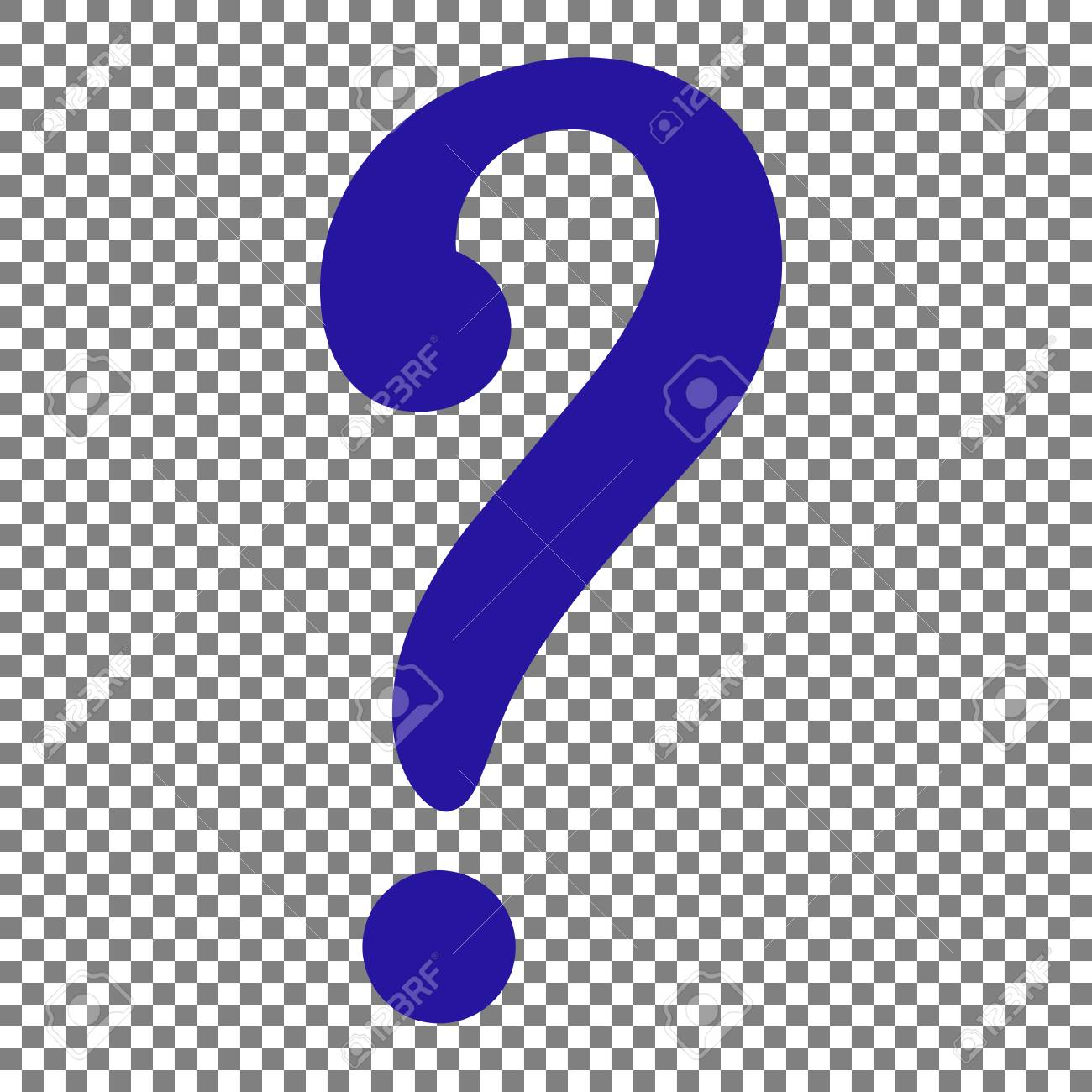 Question Mark Sign. Blue Icon On Transparent Background. Royalty ...