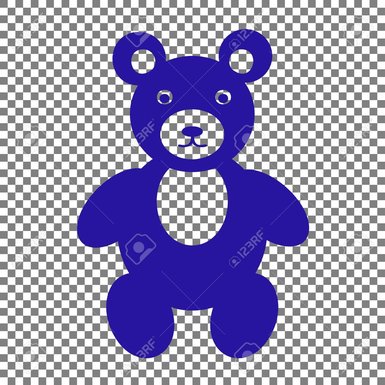 teddy bear sign illustration blue icon on transparent background royalty free cliparts vectors and stock illustration image 70629724 123rf com