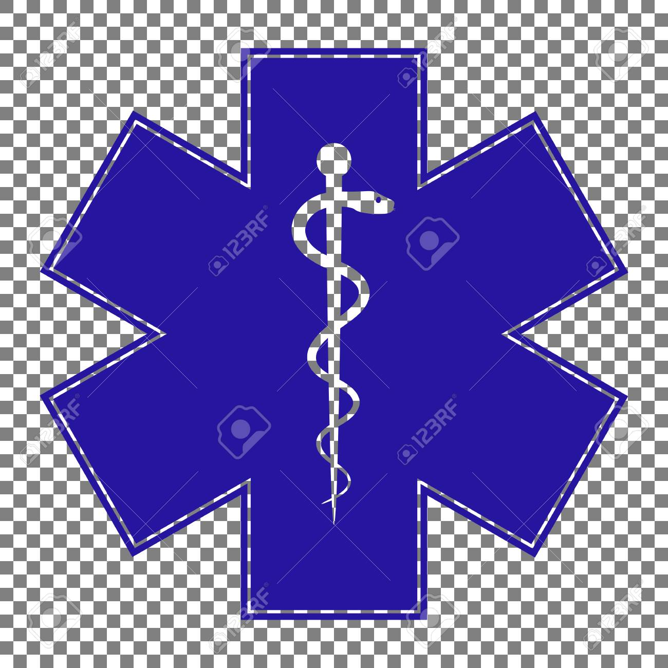 Medical Symbol Of The Emergency Or Star Of Life Blue Icon On