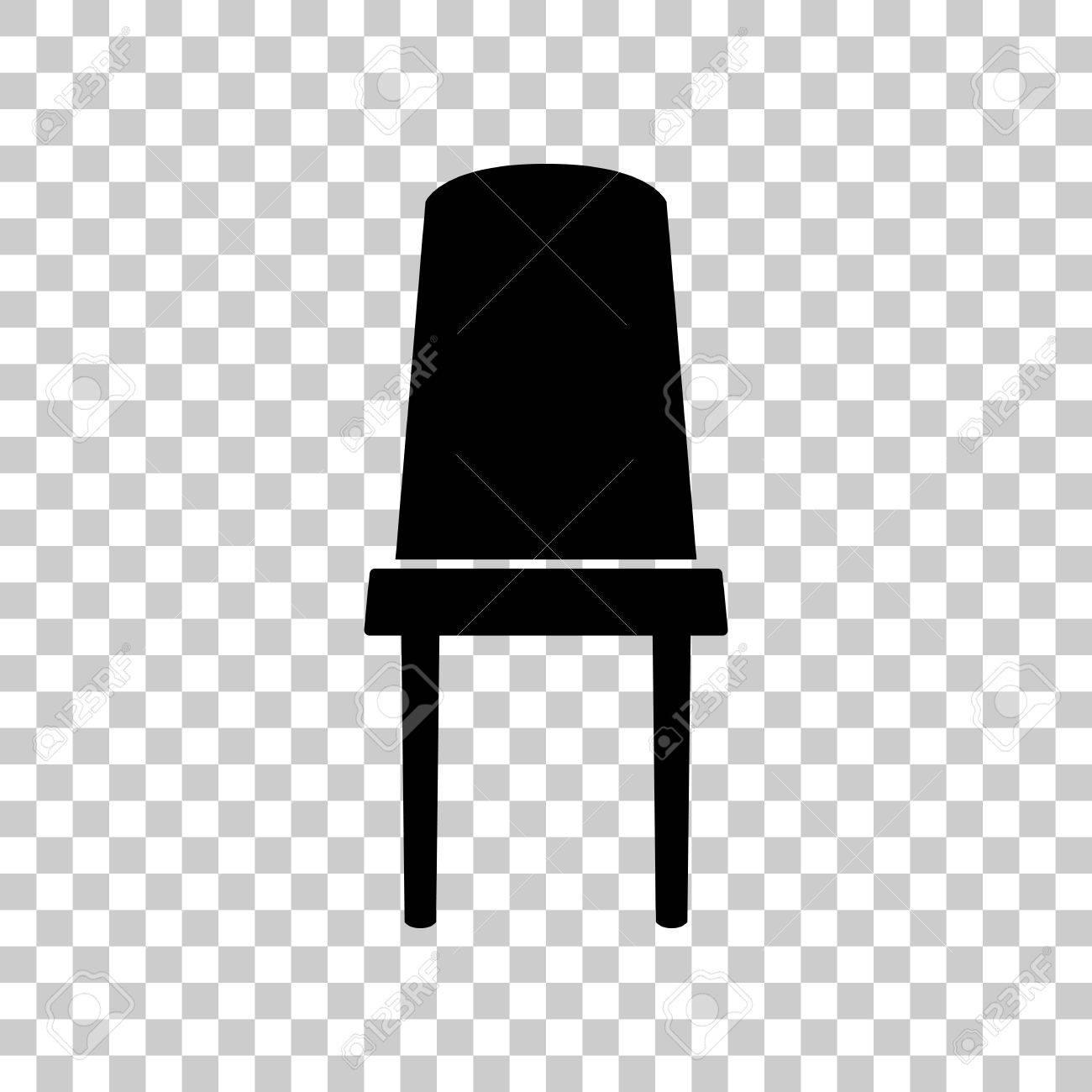 Chaise Sur Noire BureauIcône Transparent Panneau Fond De tQdhsr