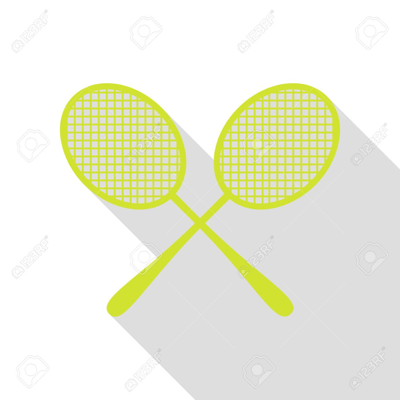 Pleasing Tennis Racquets Sign Pear Icon With Flat Style Shadow Path Royalty Wiring Cloud Intapioscosaoduqqnet