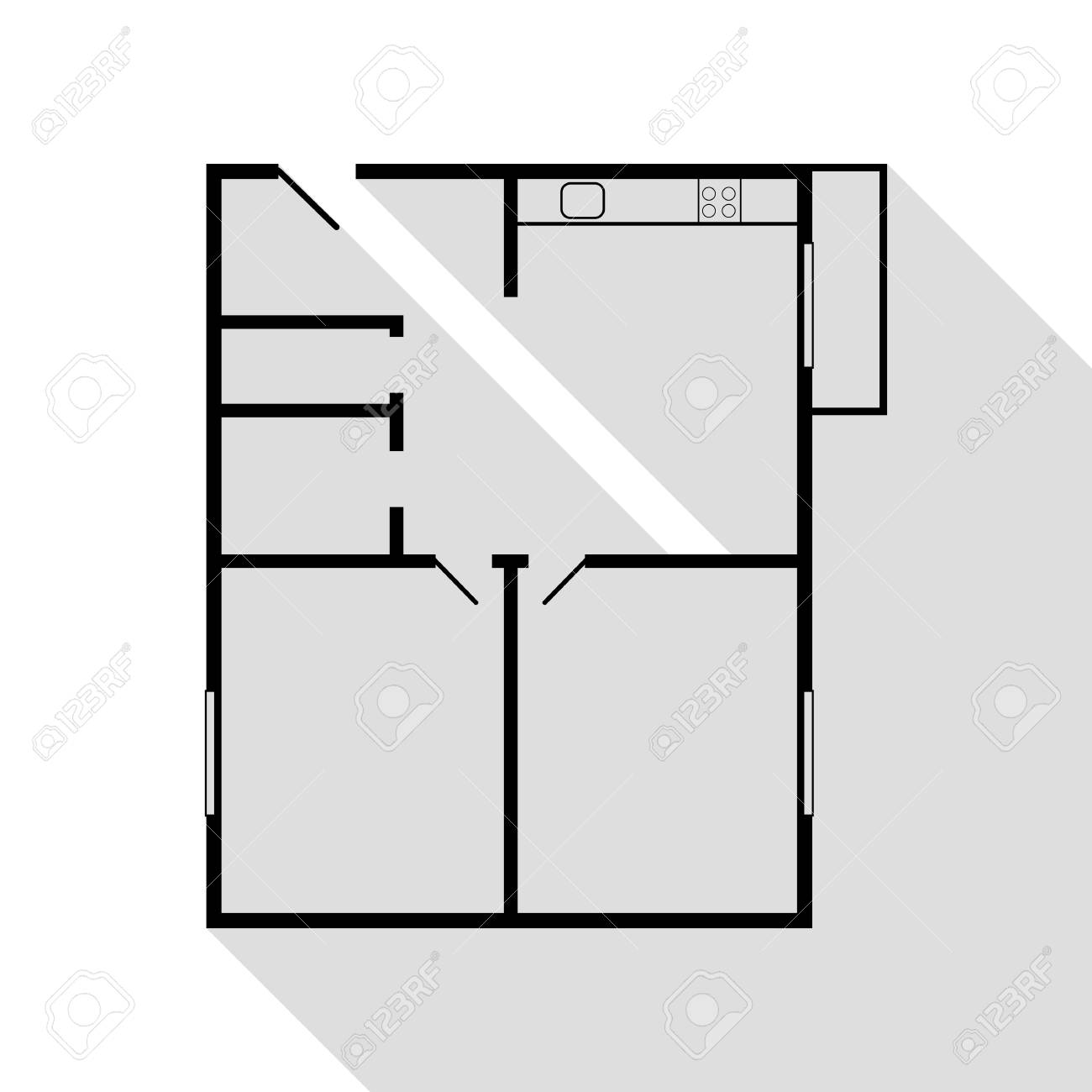 Apartment house floor plans. Black icon with flat style shadow.. on construction icons, workshop icons, drafting icons, design icons, land icons, fireplace icons, farm icons, architecture icons, drawing icons, head icons, study icons, foundation icons, room icons, builder icons, remodeling icons, human icons, london icons, housing icons, household icons, architectural icons,