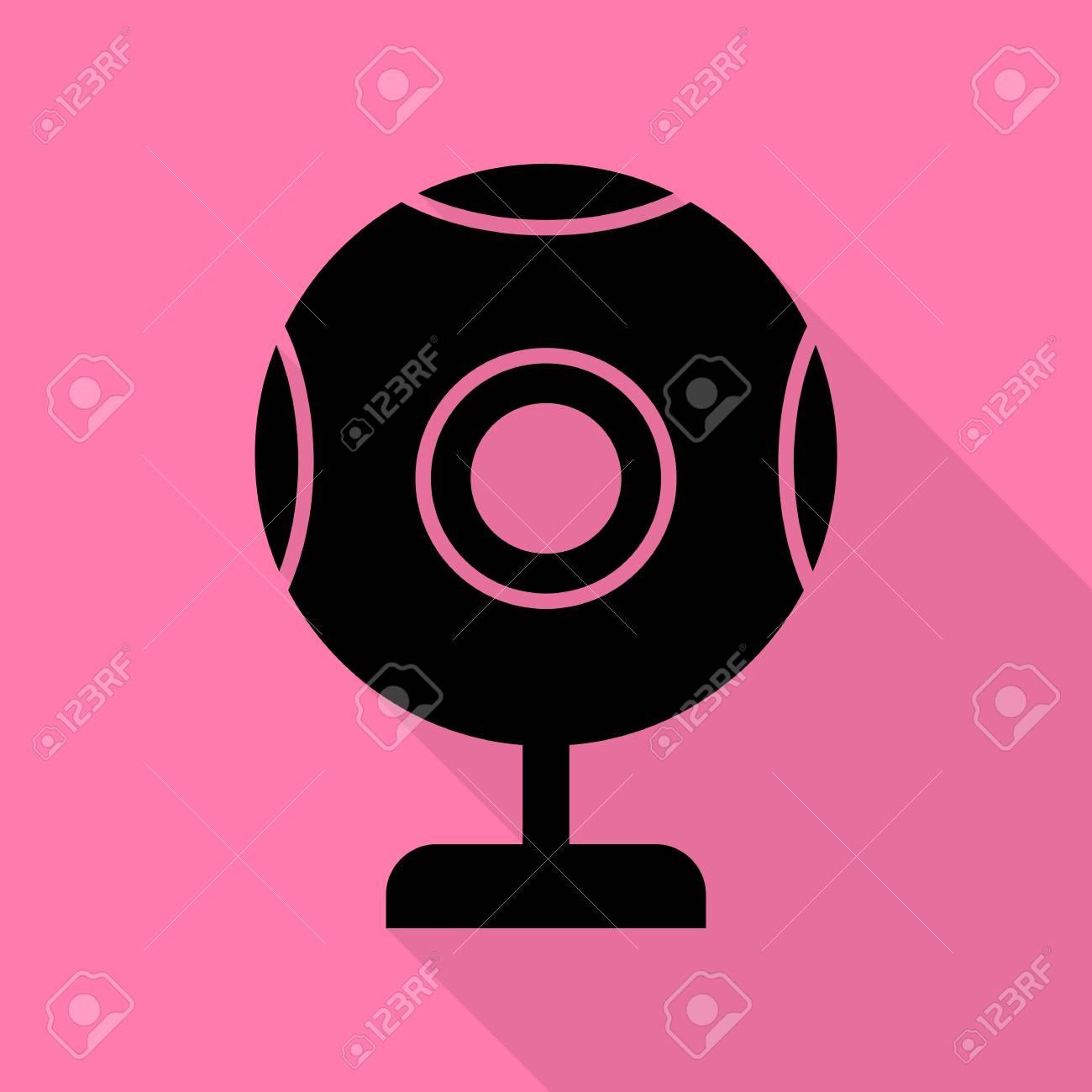 schwarzer Webcam-Chat