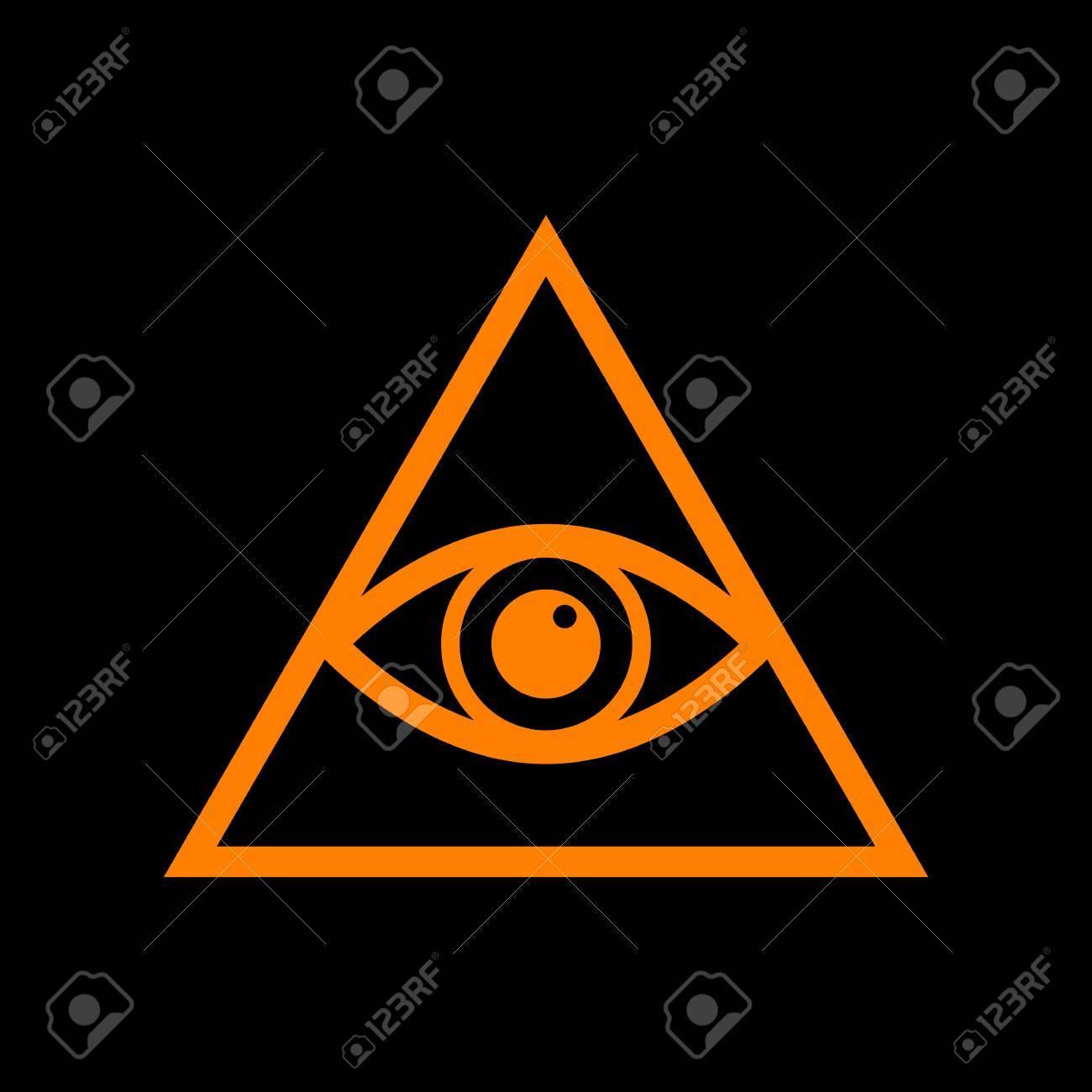 371 new world order stock vector illustration and royalty free new all seeing eye pyramid symbol freemason and spiritual orange icon on black background biocorpaavc Choice Image