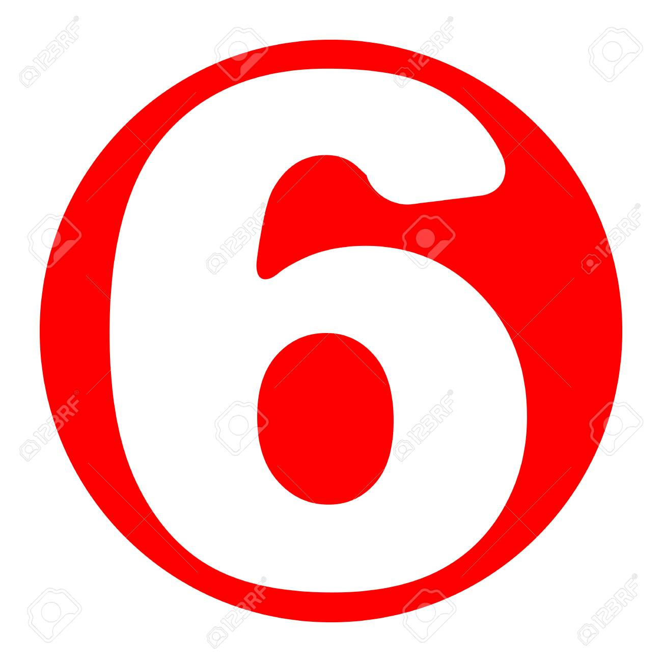 number 6 sign design template element vector white icon in rh 123rf com red circle with line clipart red circle with line clipart