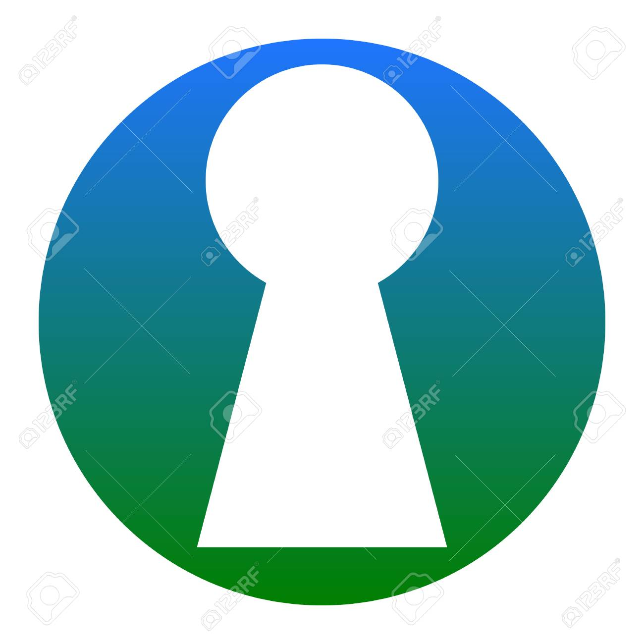keyhole sign illustration vector white icon in bluish circle rh 123rf com  key in keyhole vector