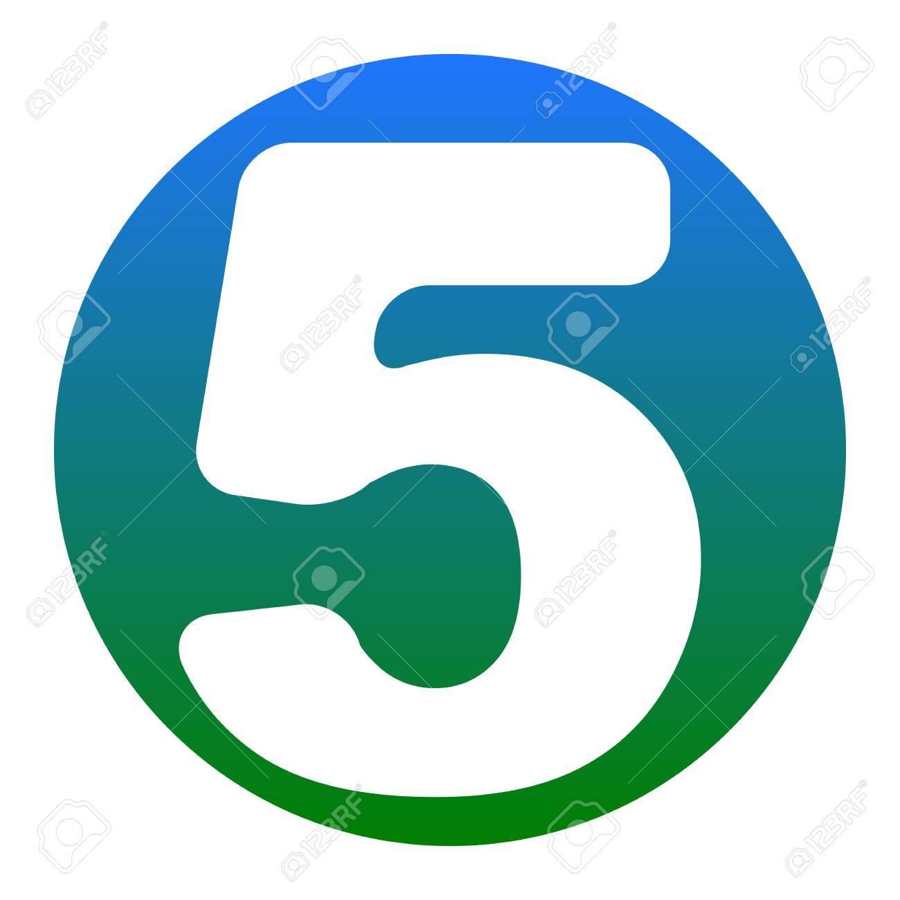 elemento de plantilla de diseño de signo de número 5 vector icono