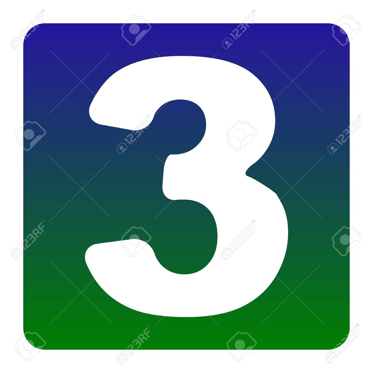 Elemento De Plantilla De Diseño De Signo De Número 3. Vector ...
