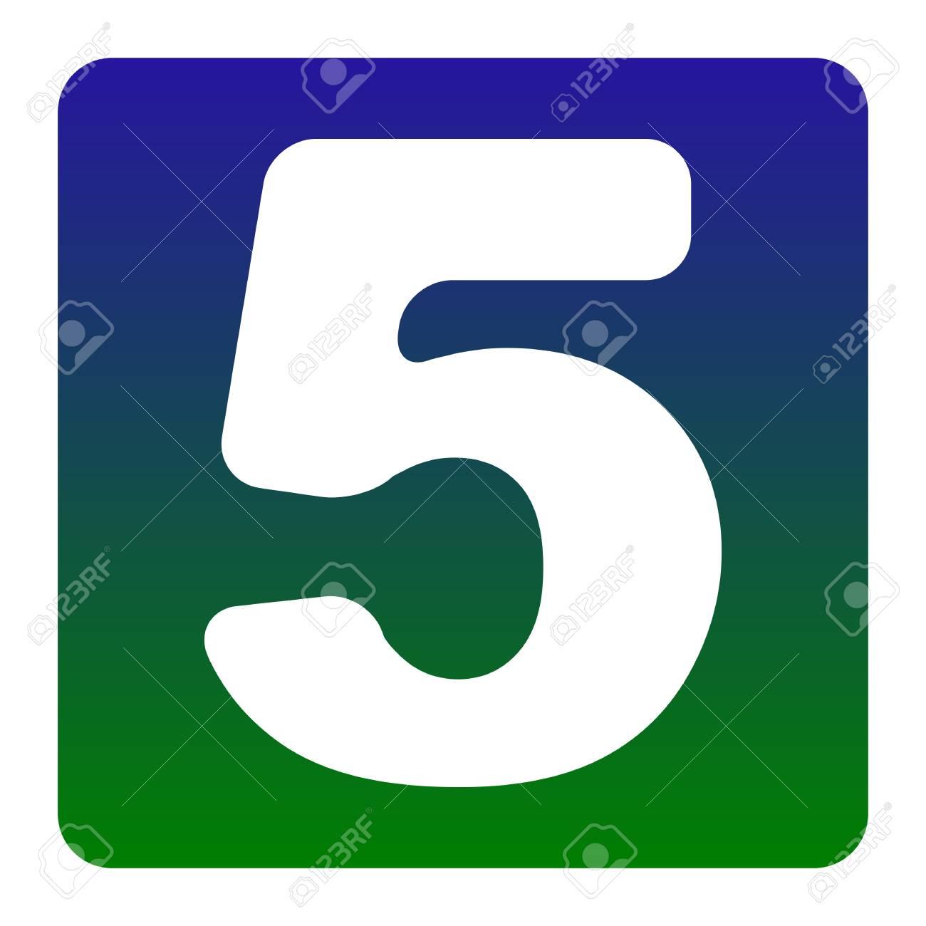 Elemento De Plantilla De Diseño De Signo De Número 5. Vector ...