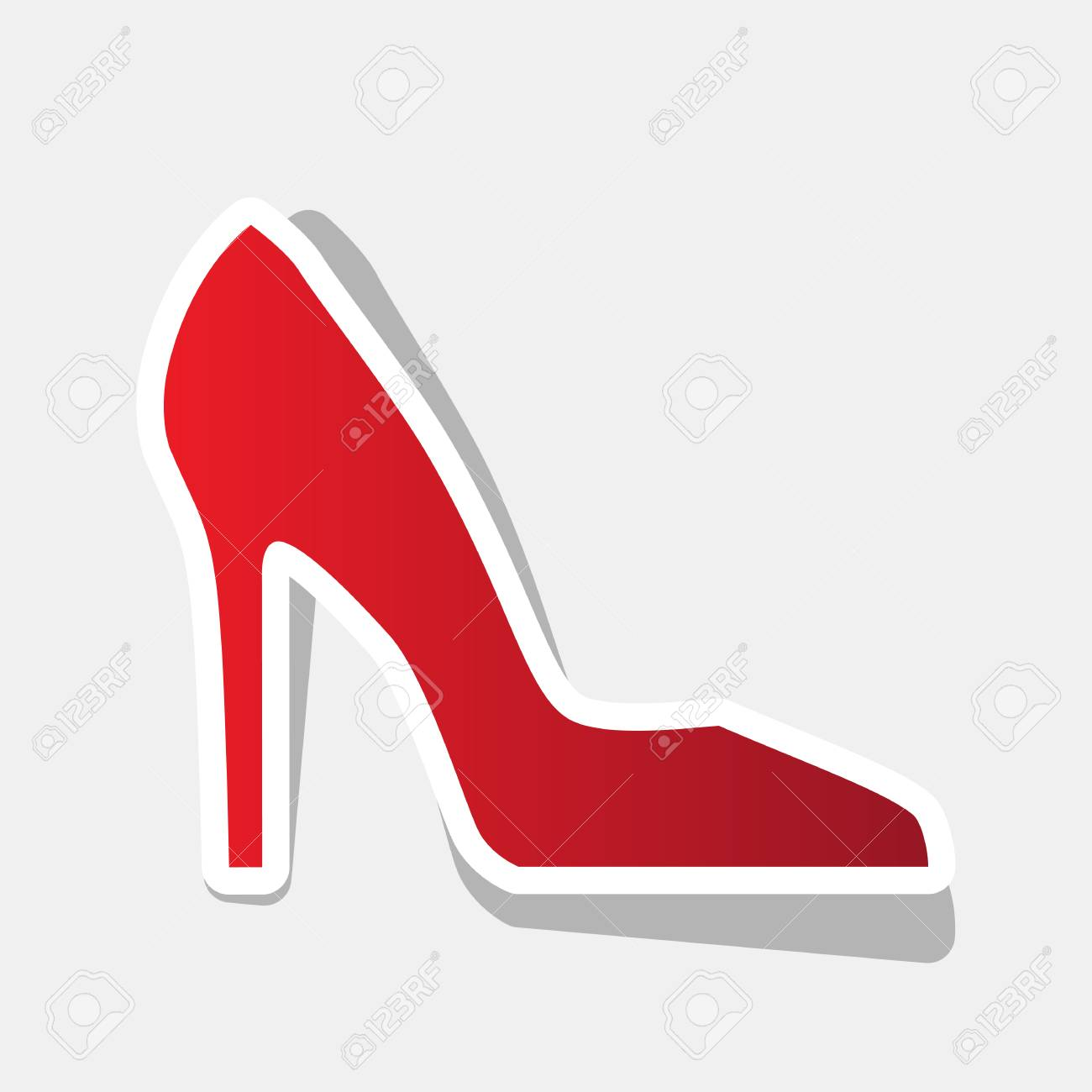 Icono Año Rojizo Vector Mujer Con Nuevo De Signo Zapato 0qIwX
