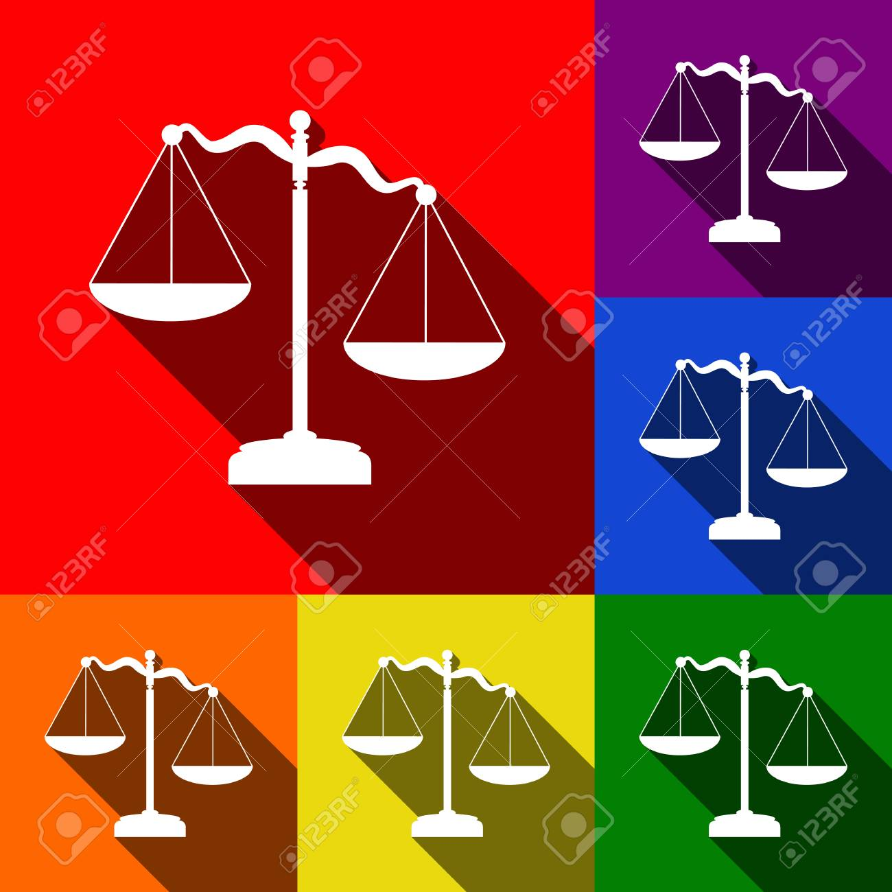 vettore della bilancia del peso della giustizia