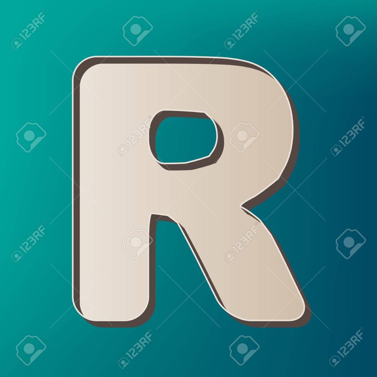 Letter R sign design template element  Vector  Icon printed at