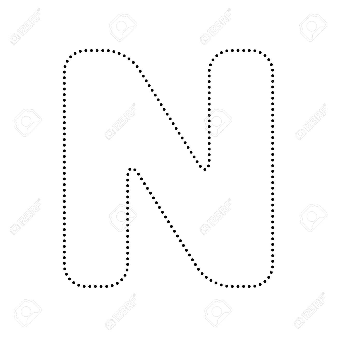 Letter n sign design template element vector black dotted icon letter n sign design template element vector black dotted icon on white background maxwellsz