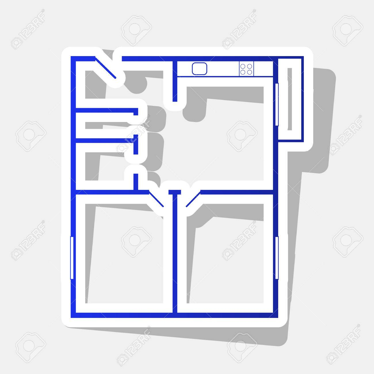 Apartment house floor plans. Vector. New year bluish icon with.. on construction icons, workshop icons, drafting icons, design icons, land icons, fireplace icons, farm icons, architecture icons, drawing icons, head icons, study icons, foundation icons, room icons, builder icons, remodeling icons, human icons, london icons, housing icons, household icons, architectural icons,