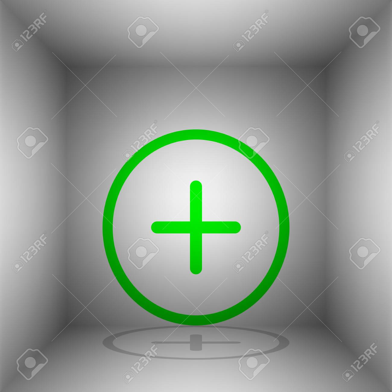 Positive symbol plus sign vector green icon with shadow in positive symbol plus sign vector green icon with shadow in the room stock biocorpaavc Choice Image