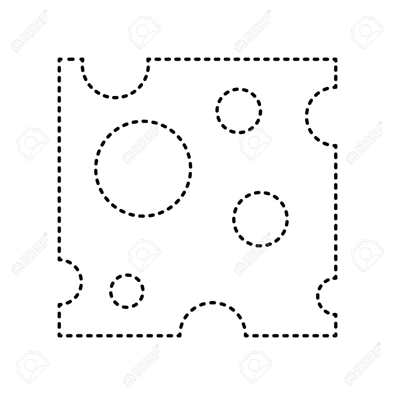 Cheese Slice Sign Vector Black Dashed Icon On White Background Isolated Royalty Free Cliparts Vectors And Stock Illustration Image 74515299