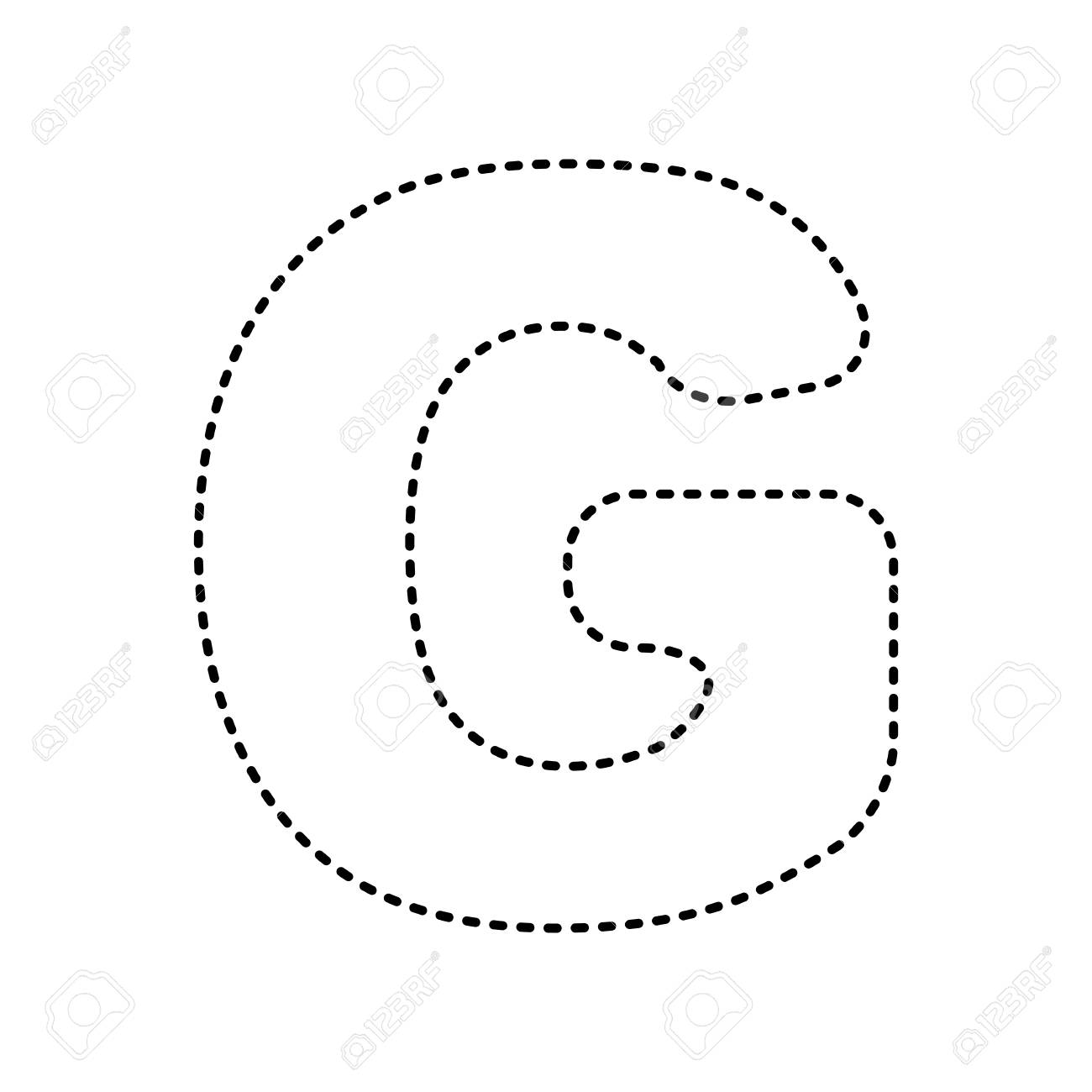 letter g sign design template element vector black dashed icon