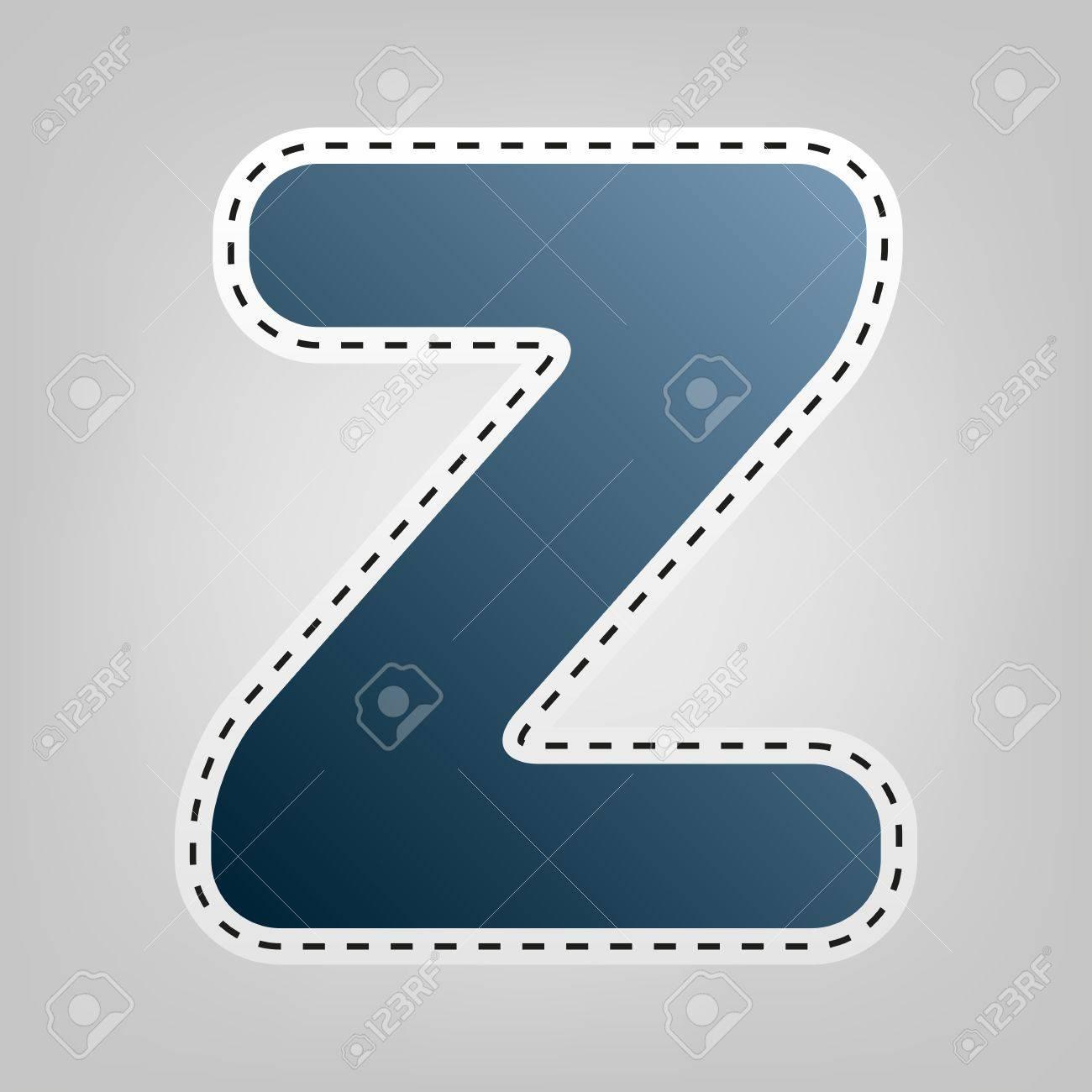 Letra Z Signo Elemento De Plantilla De Diseño. Vector. Icono Azul ...