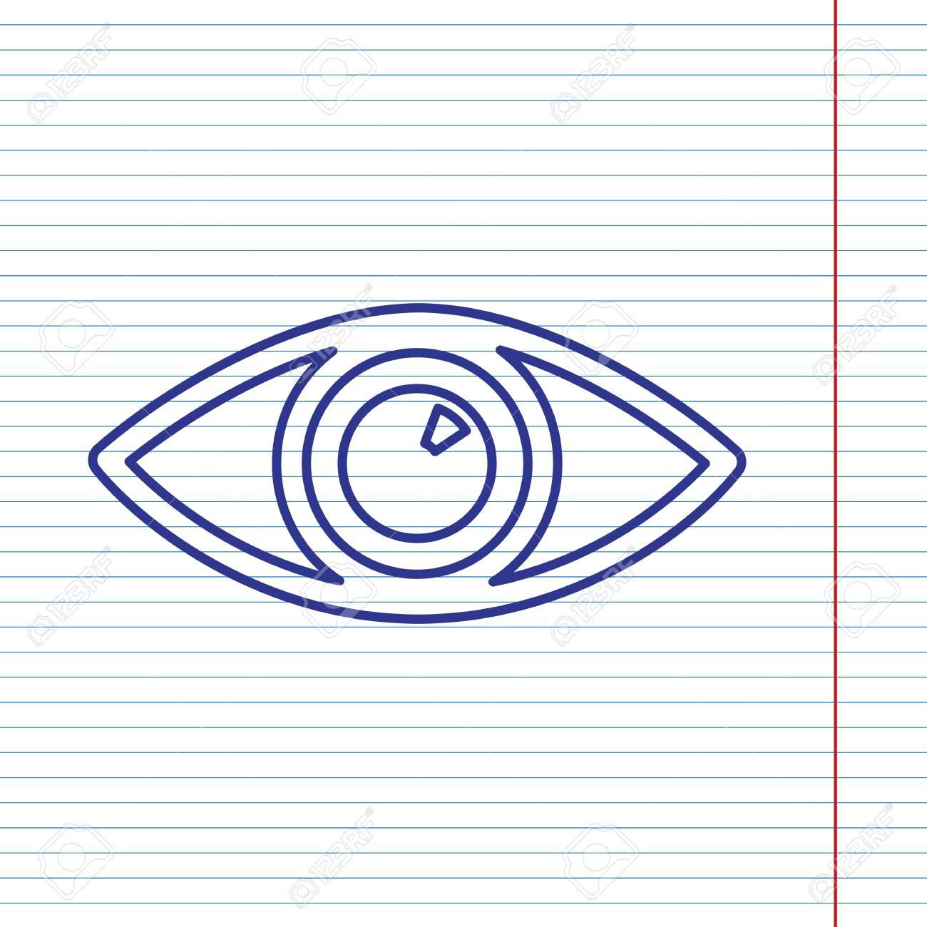 linea roja en un ojo