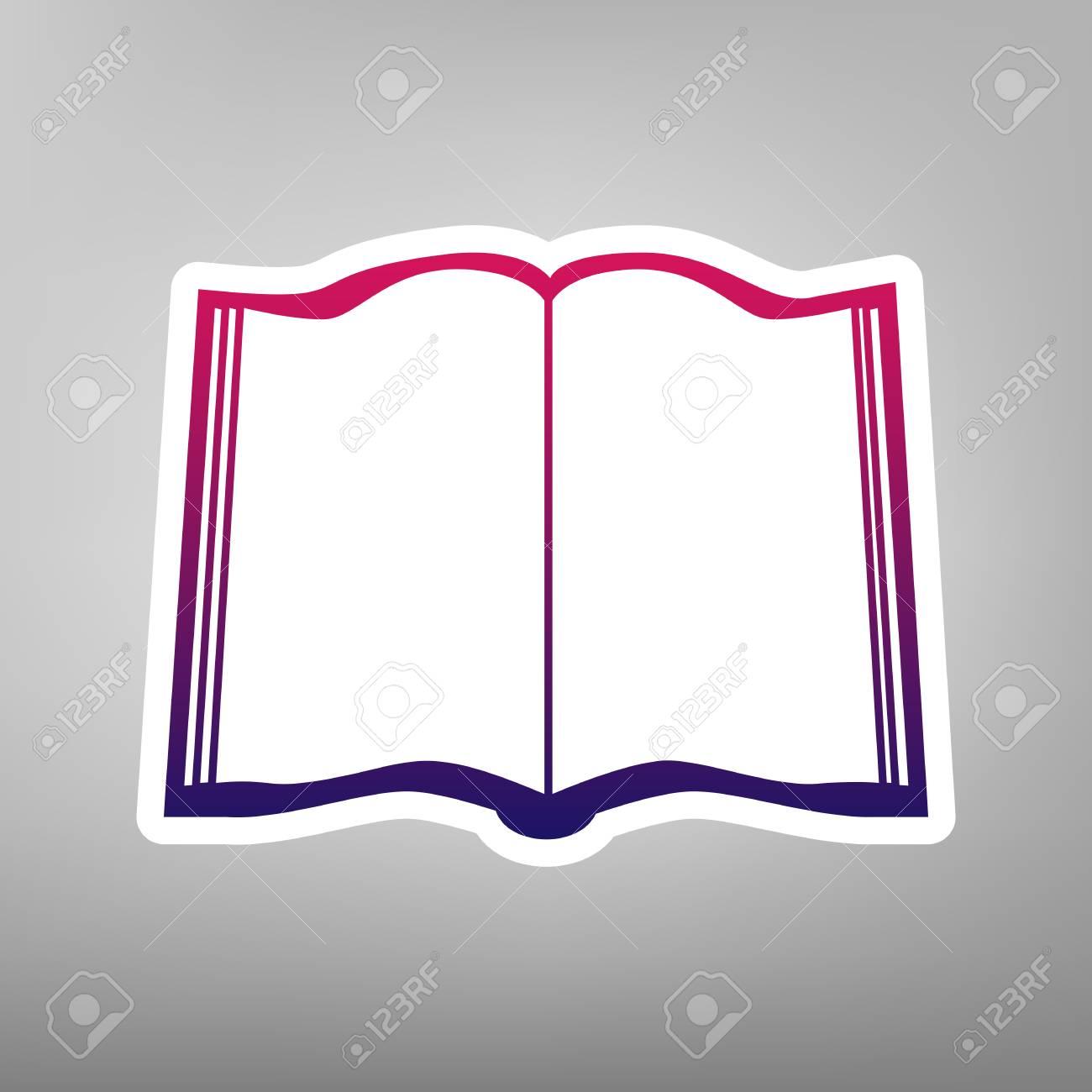 Signo De Libro Vector. Icono De Gradiente De Color Púrpura Sobre ...