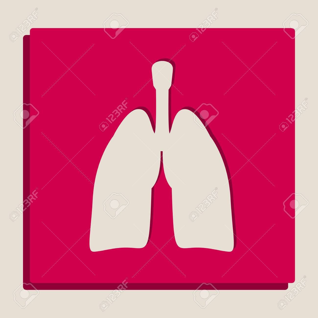 Anatomía Humana. Signo De Los Pulmones. Vector. Versión En Escala De ...