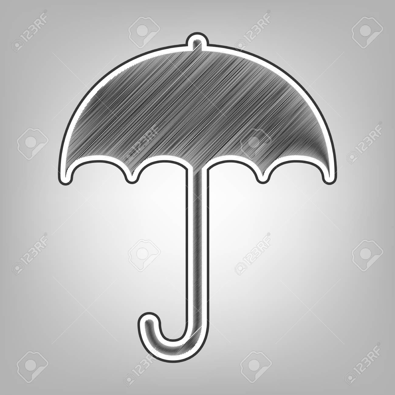 Umbrella sign icon rain protection symbol flat design style