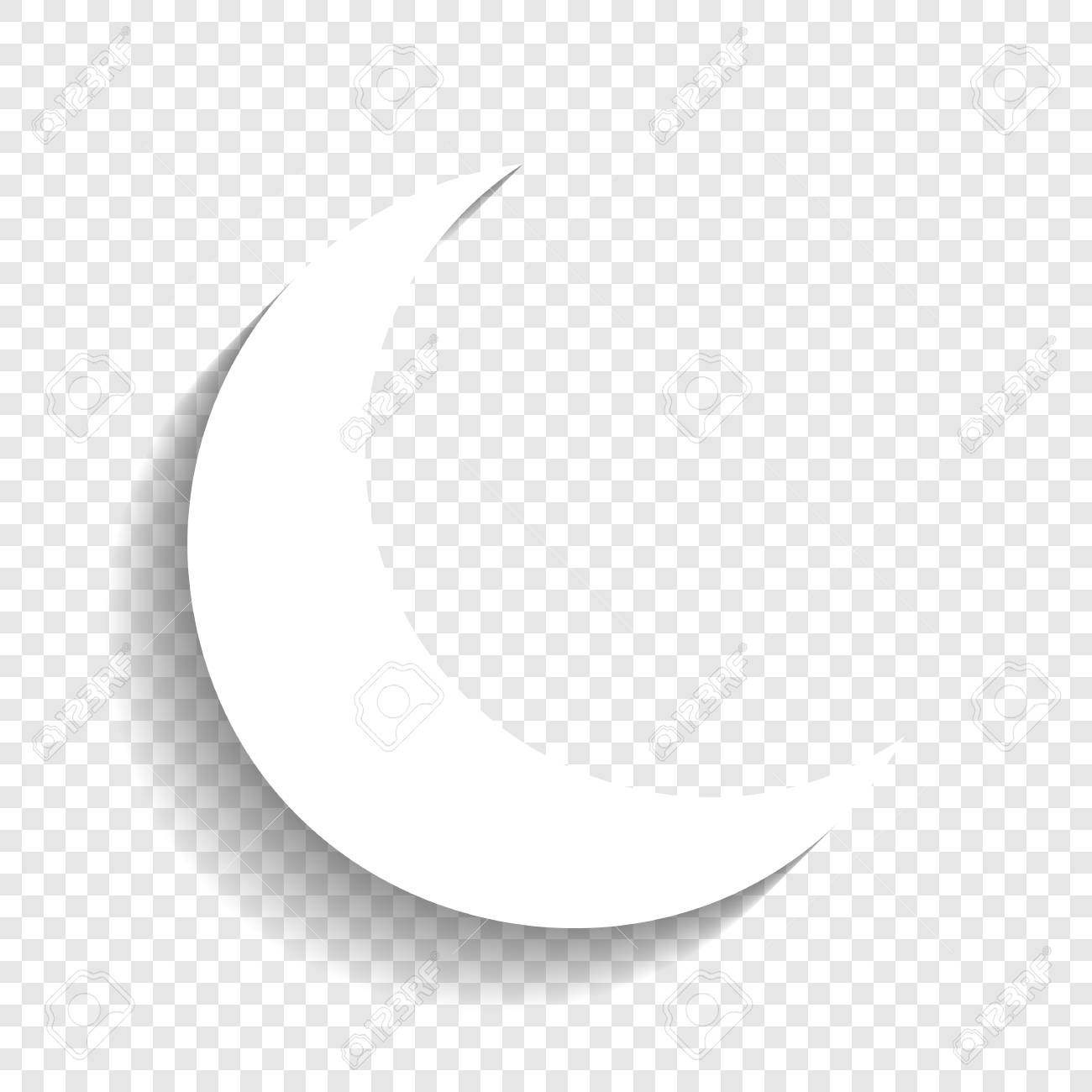 moon sign illustration vector white icon with soft shadow on royalty free cliparts vectors and stock illustration image 80930108 123rf com