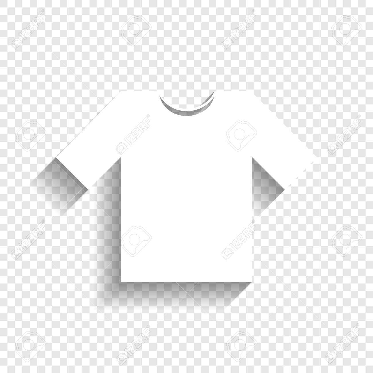 t shirt sign illustration vector white icon with soft shadow royalty free cliparts vectors and stock illustration image 80930152 123rf com
