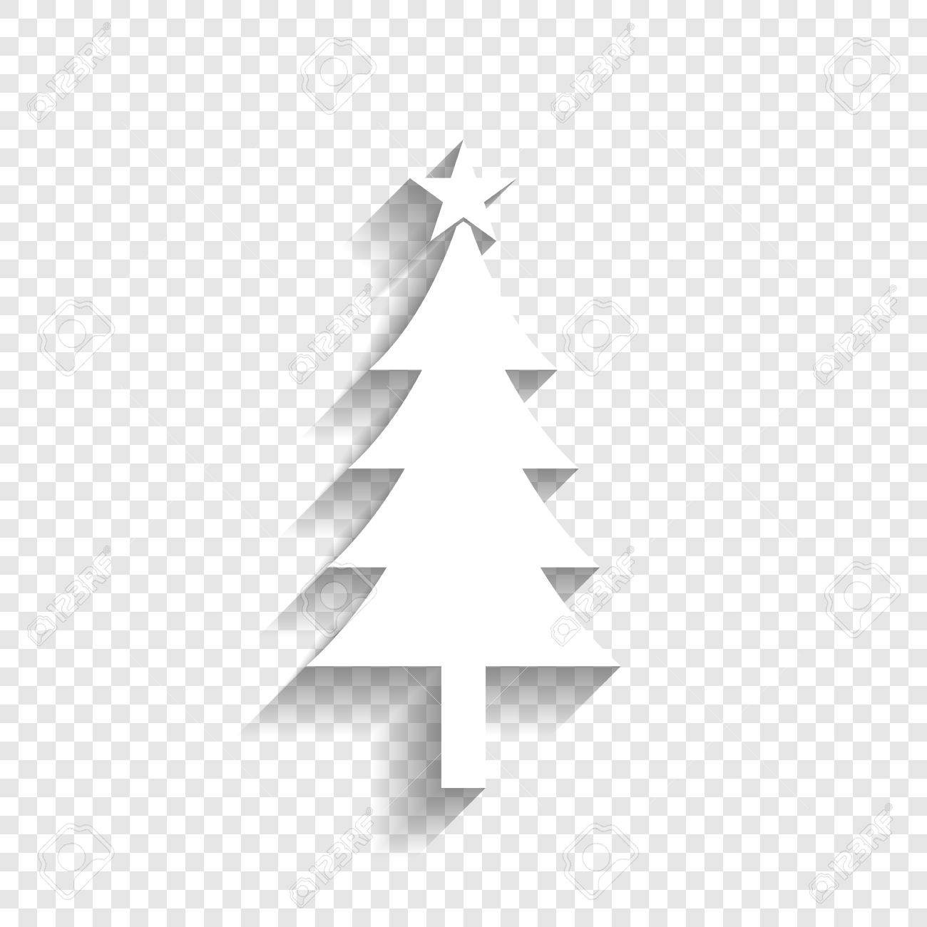 new year tree sign vector white icon with soft shadow on transparent royalty free cliparts vectors and stock illustration image 80930155 123rf com