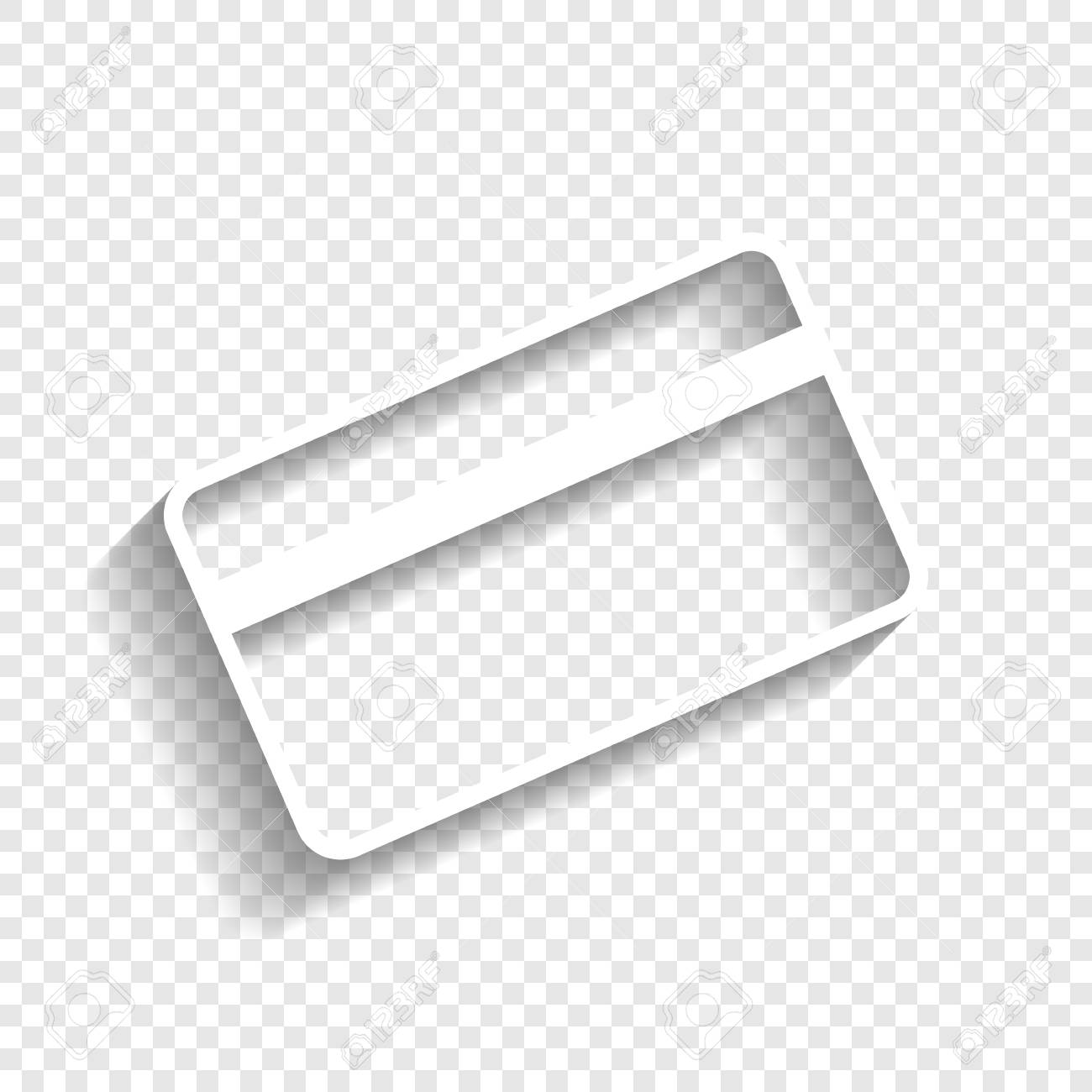 credit card symbol for download vector white icon with soft