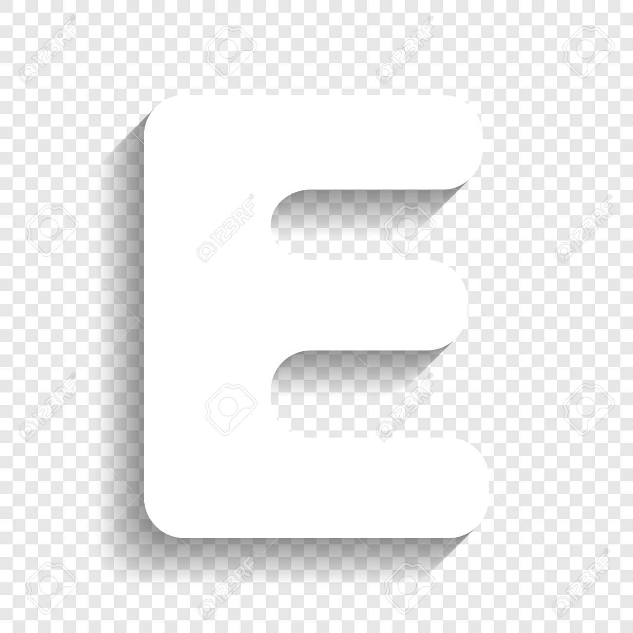 Letter e sign design template element vector white icon with letter e sign design template element vector white icon with soft shadow on transparent spiritdancerdesigns Gallery