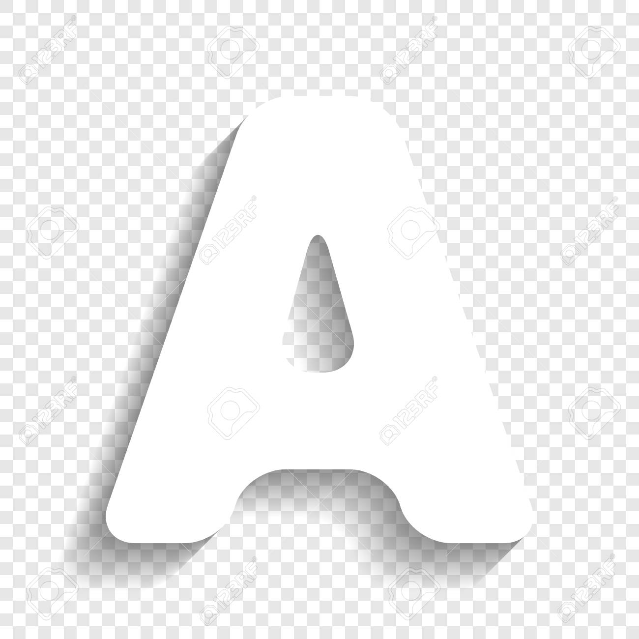 Letter A Sign Design Template Element. Vector. White Icon With