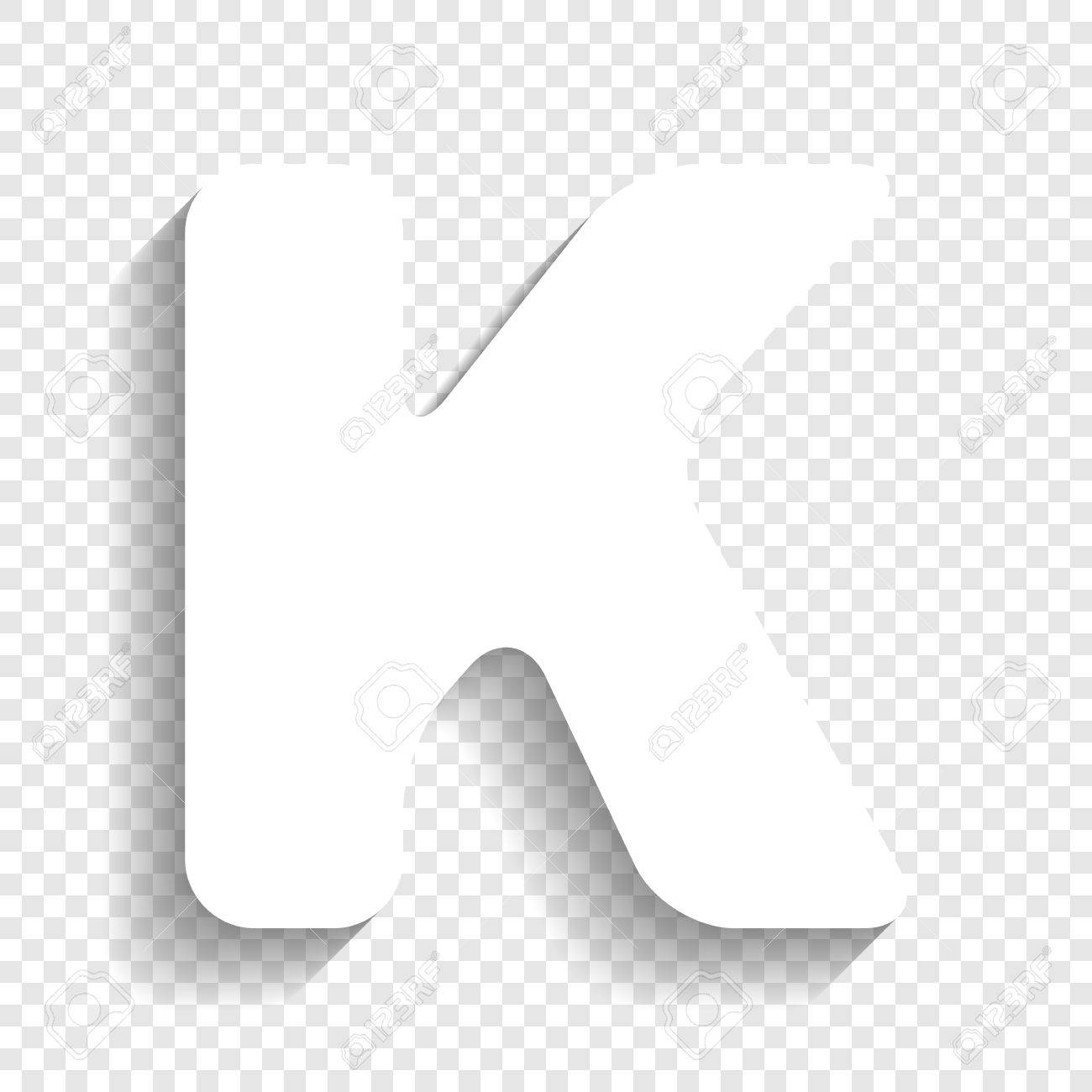 Letter K Sign Design Template Element. Vector. White Icon With ...