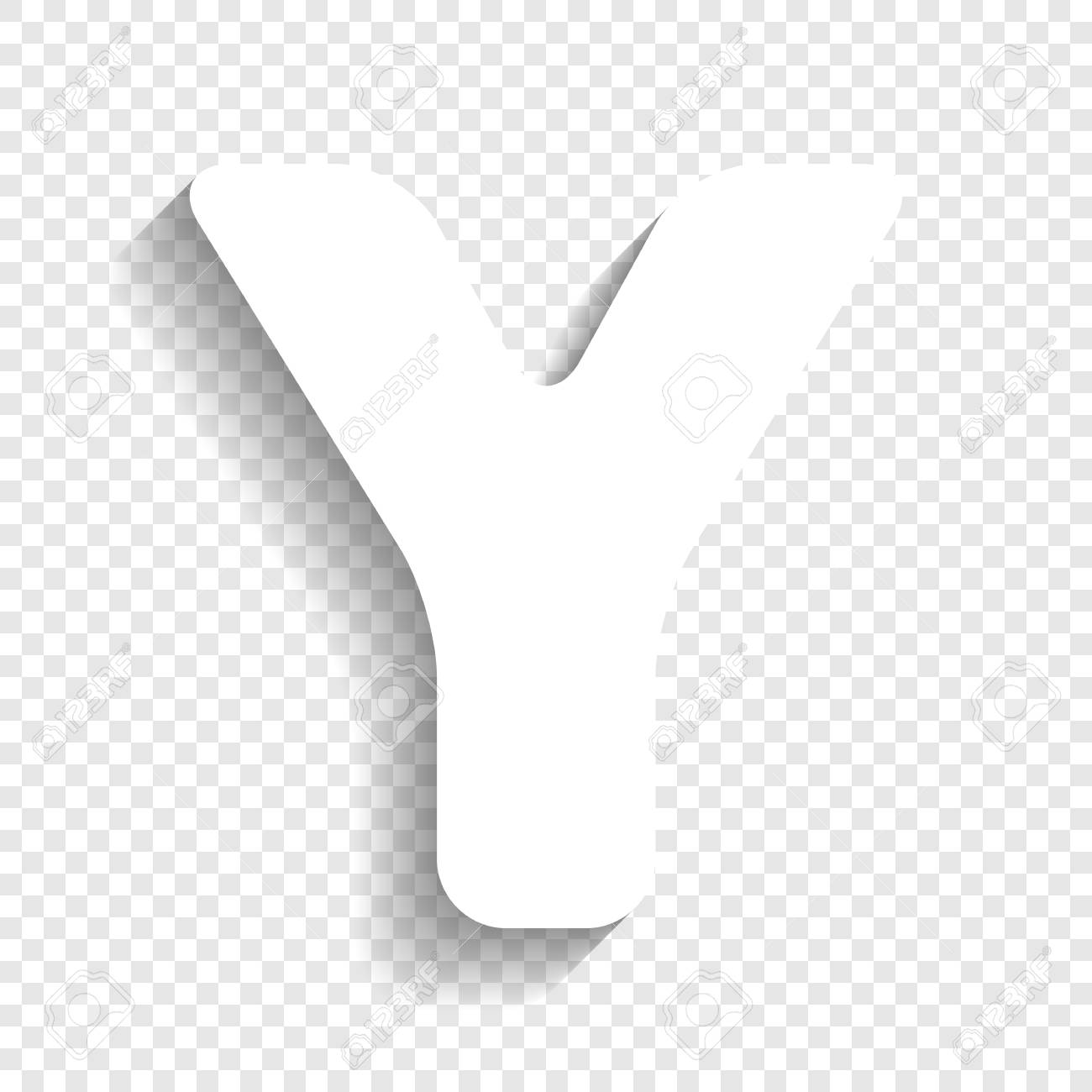 Letter Y Sign Design Template Element Vector White Icon With
