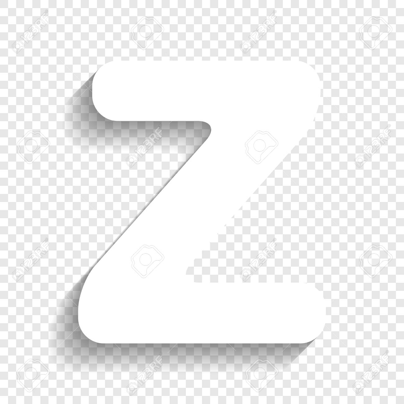 Letter Z Sign Design Template Element. Vector. White Icon With ...
