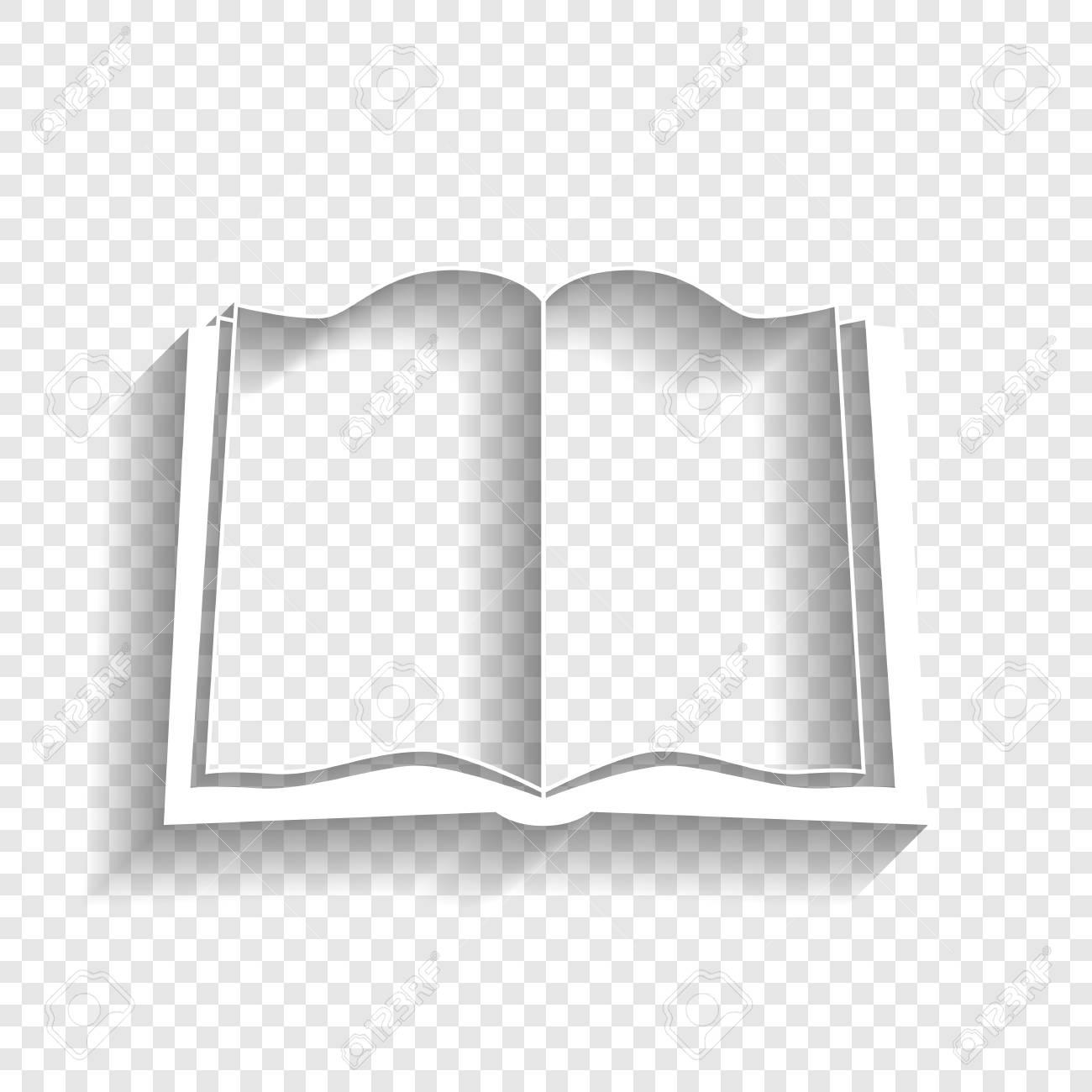Signe Livre Blanc Vecteur Icone Avec L 39 Ombre Douce Sur Fond Transparent Vecteur