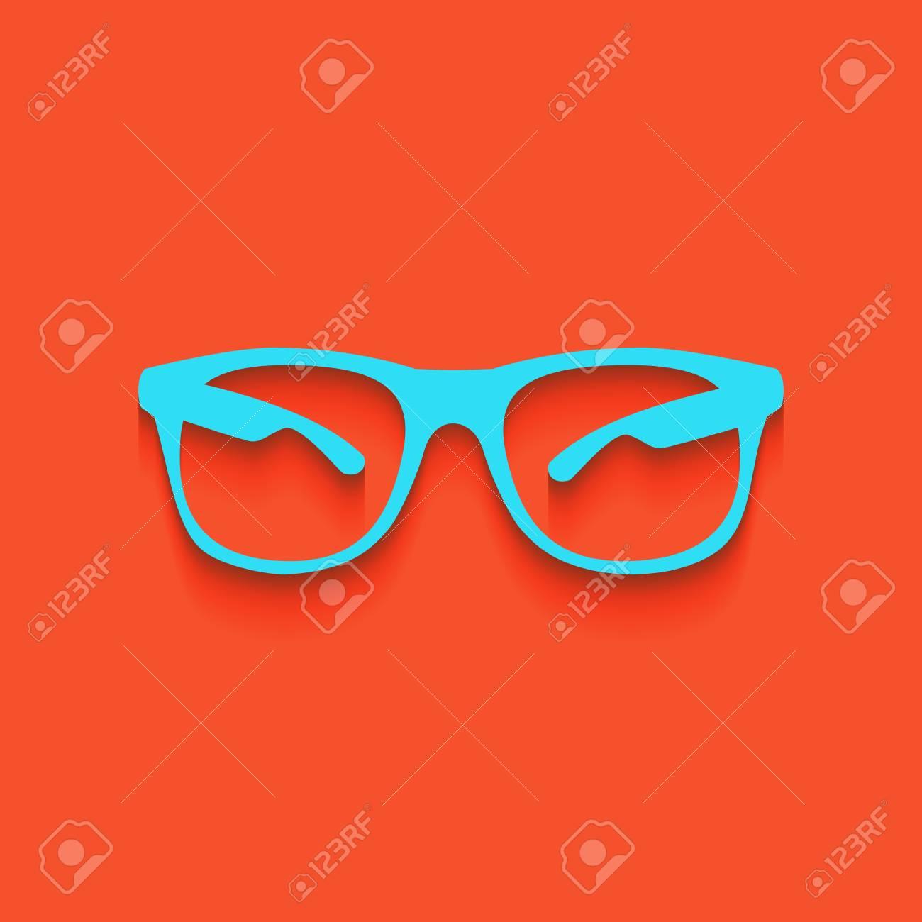 53f763f7233835 Banque d images - Illustration de signe de lunettes de soleil. Vecteur.  L icône blanchâtre sur le mur de brique en tant que fond.
