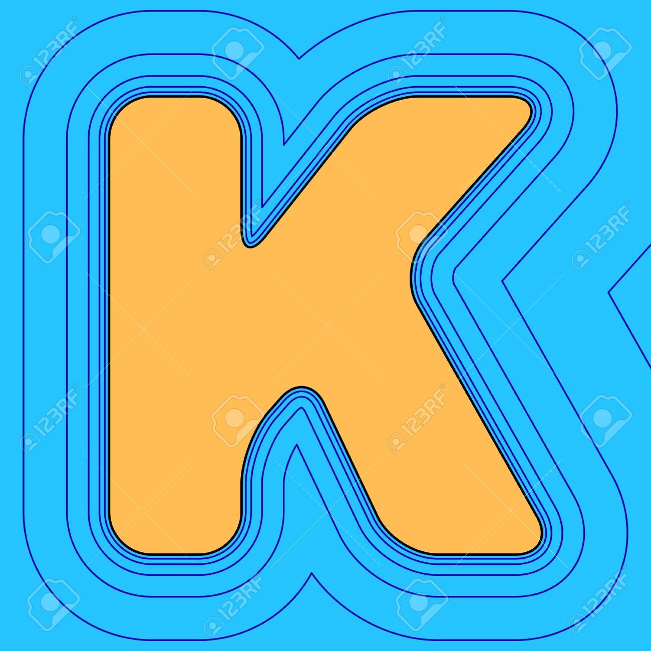 Elemento De Plantilla De Diseño De Letra K Signo. Vector. El Icono ...