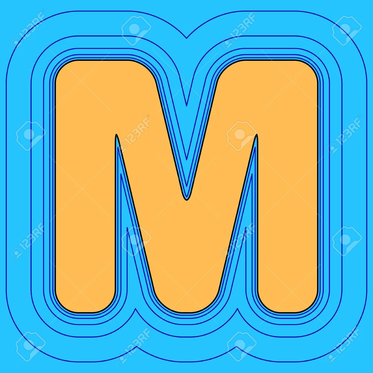 Elemento De Plantilla De Diseño De Letra M Signo. Vector. El Icono ...